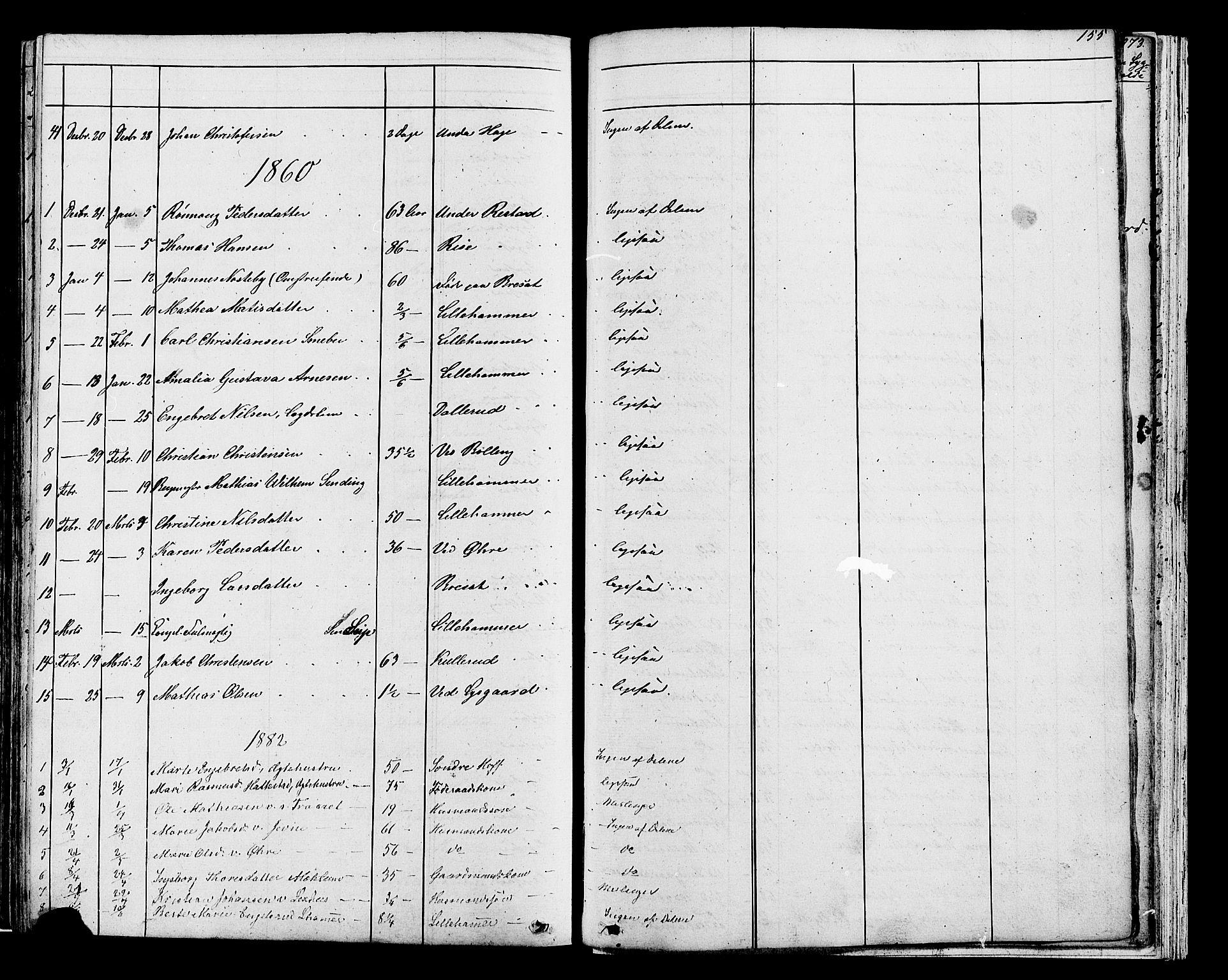 SAH, Fåberg prestekontor, Klokkerbok nr. 7, 1856-1891, s. 1054-1055