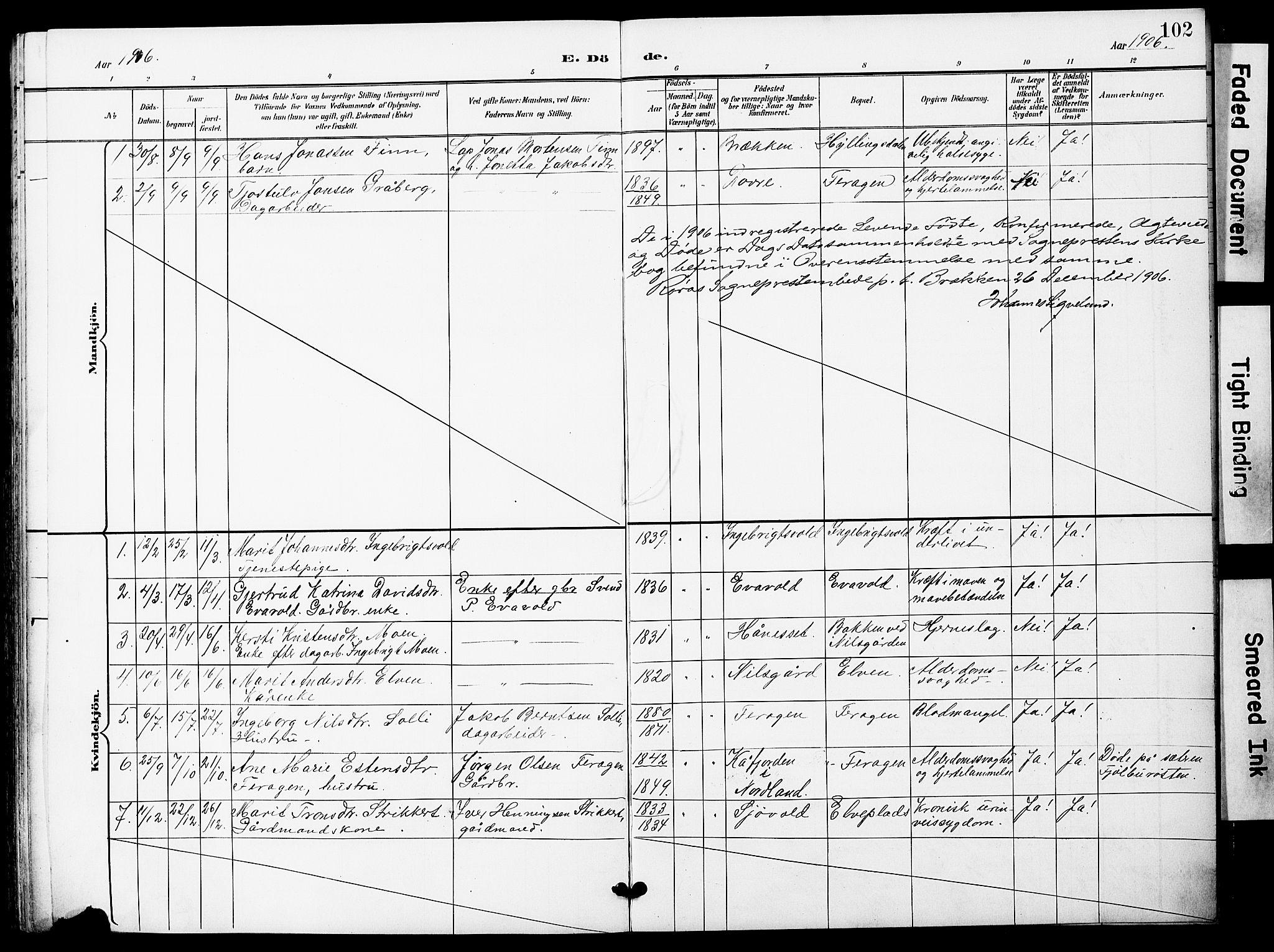 SAT, Ministerialprotokoller, klokkerbøker og fødselsregistre - Sør-Trøndelag, 683/L0950: Klokkerbok nr. 683C02, 1897-1918, s. 102