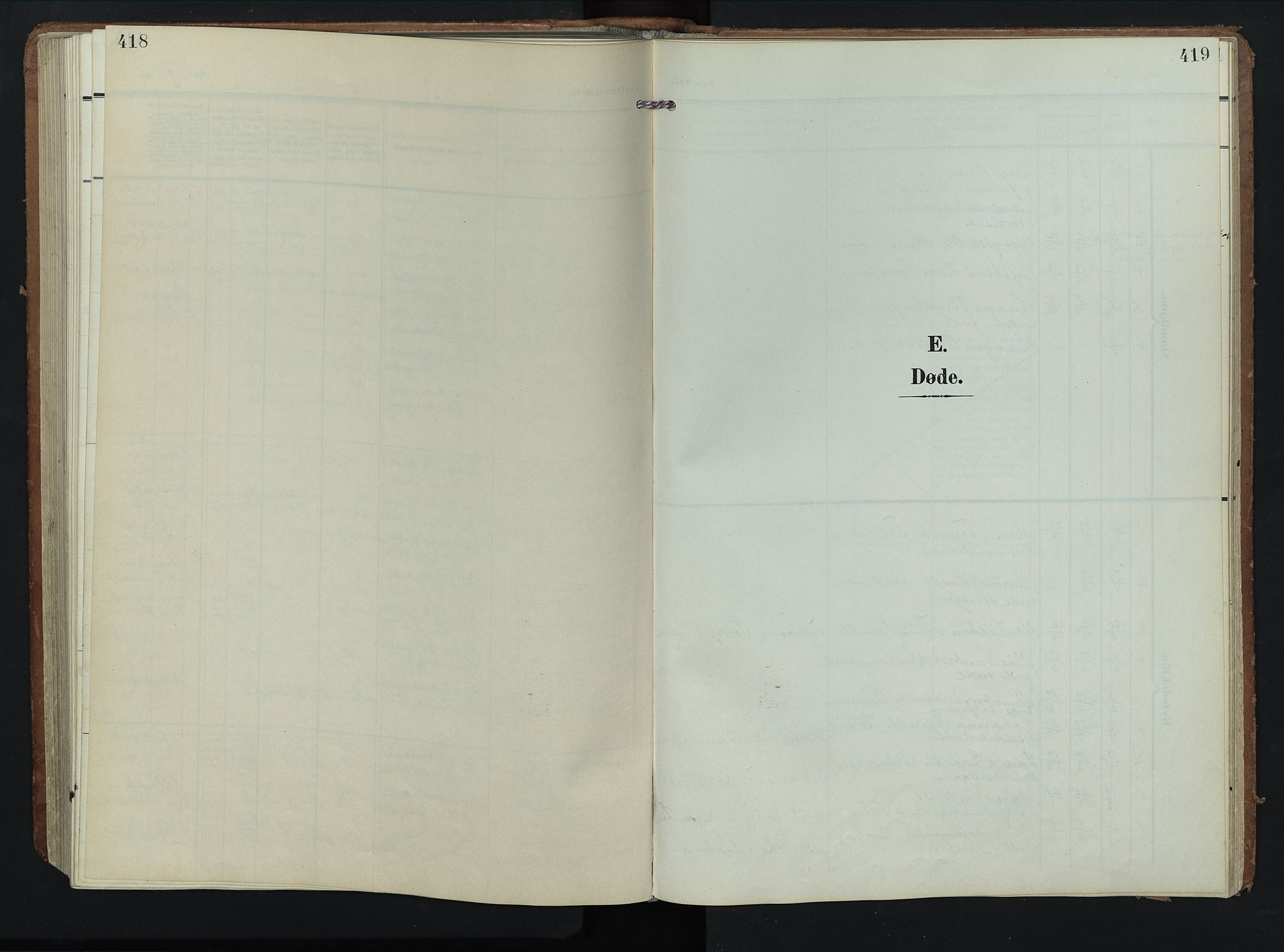 SAH, Rendalen prestekontor, H/Ha/Hab/L0004: Klokkerbok nr. 4, 1904-1946, s. 418-419
