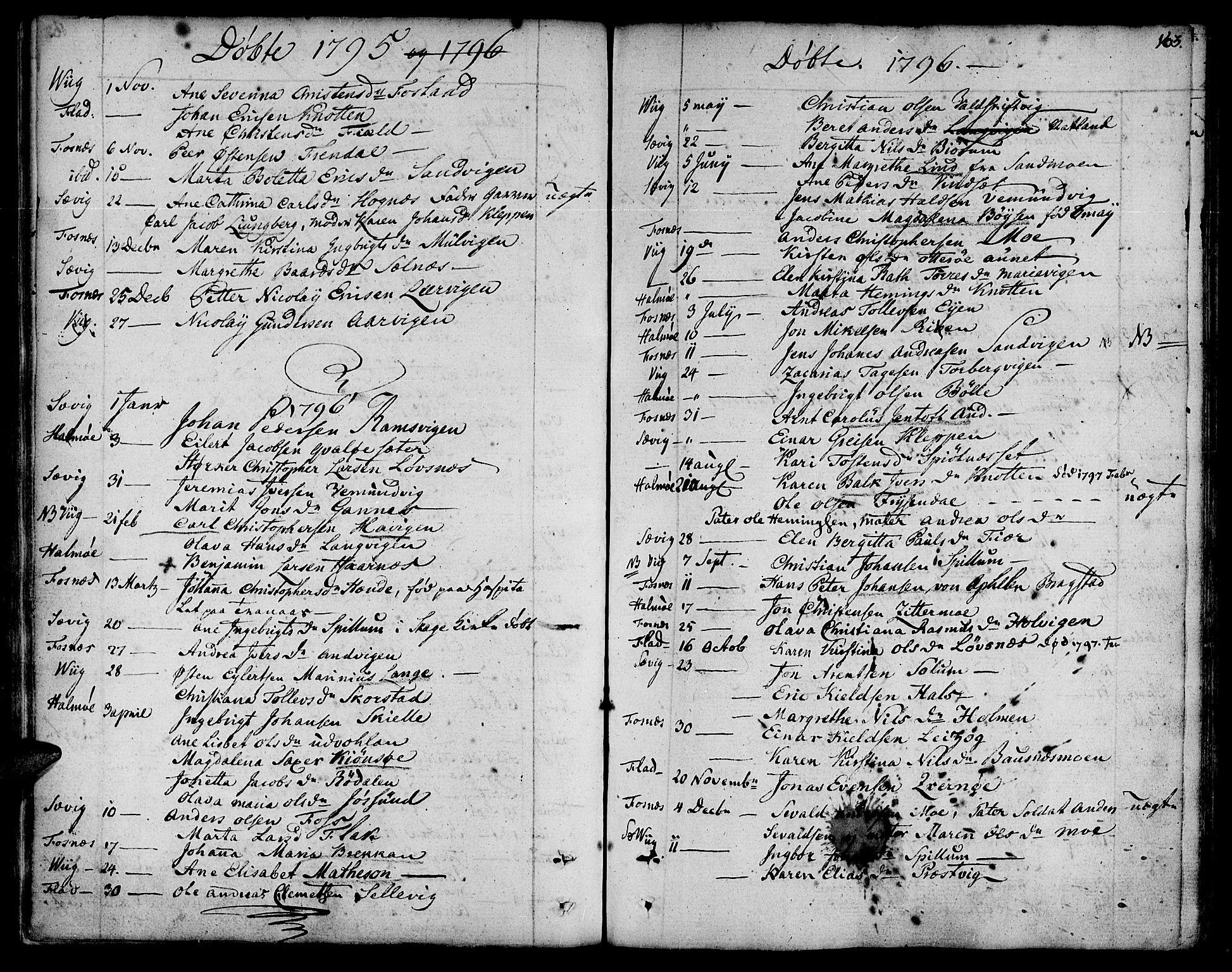 SAT, Ministerialprotokoller, klokkerbøker og fødselsregistre - Nord-Trøndelag, 773/L0608: Ministerialbok nr. 773A02, 1784-1816, s. 163