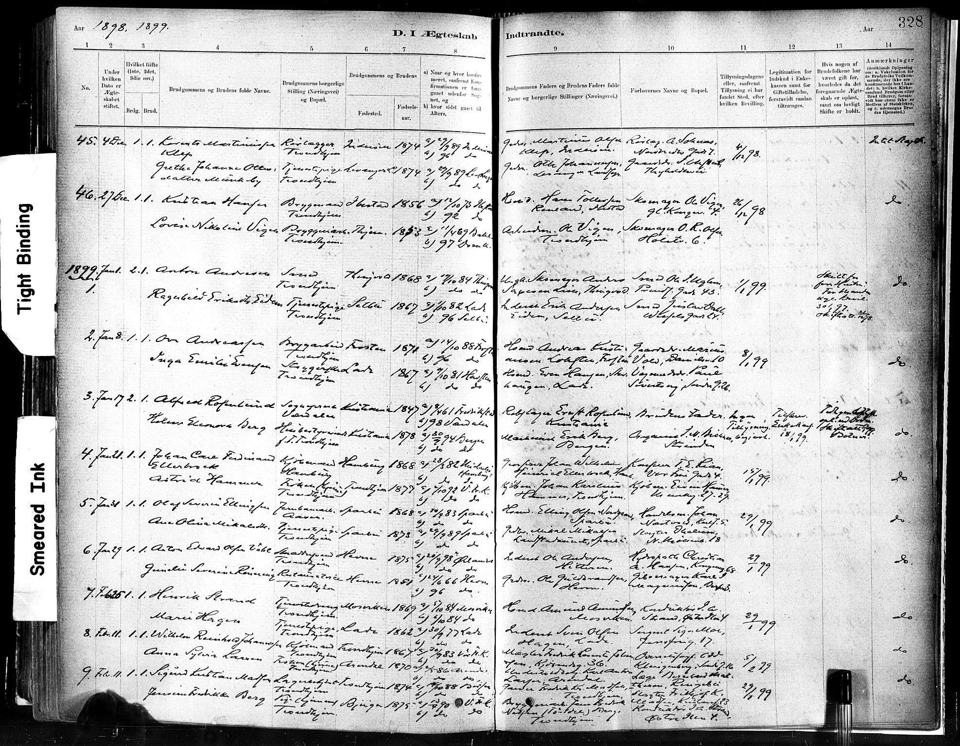 SAT, Ministerialprotokoller, klokkerbøker og fødselsregistre - Sør-Trøndelag, 602/L0119: Ministerialbok nr. 602A17, 1880-1901, s. 328