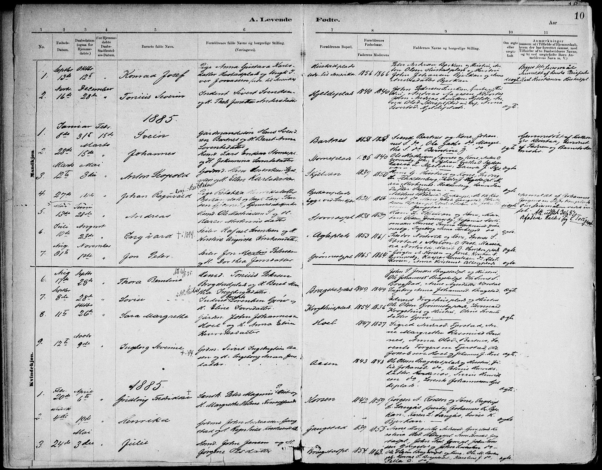 SAT, Ministerialprotokoller, klokkerbøker og fødselsregistre - Nord-Trøndelag, 732/L0316: Ministerialbok nr. 732A01, 1879-1921, s. 10