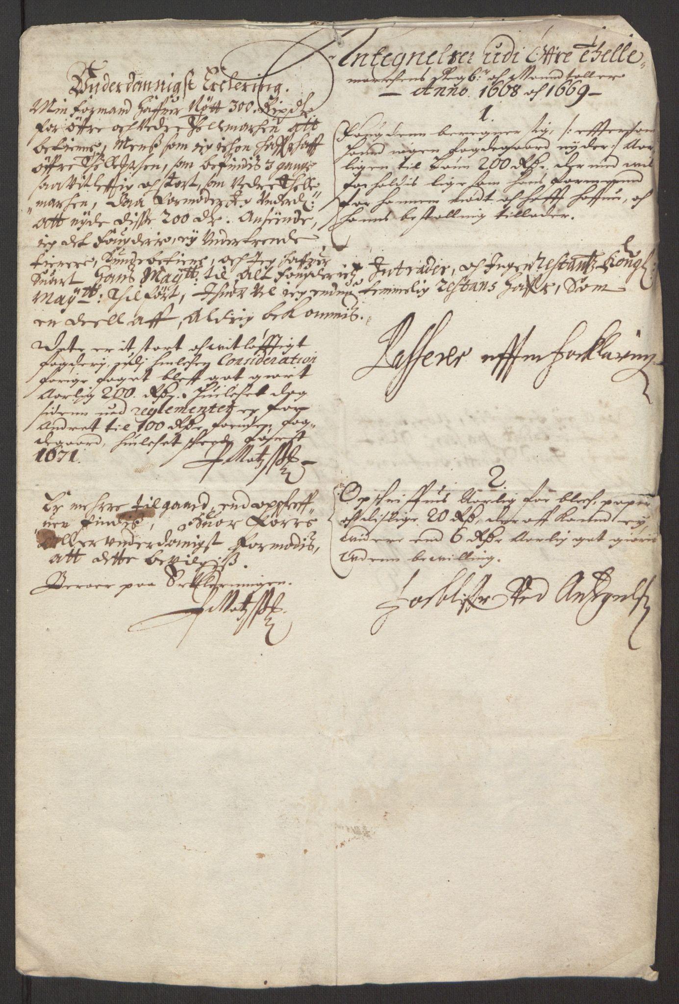 RA, Rentekammeret inntil 1814, Reviderte regnskaper, Fogderegnskap, R35/L2059: Fogderegnskap Øvre og Nedre Telemark, 1668-1670, s. 65
