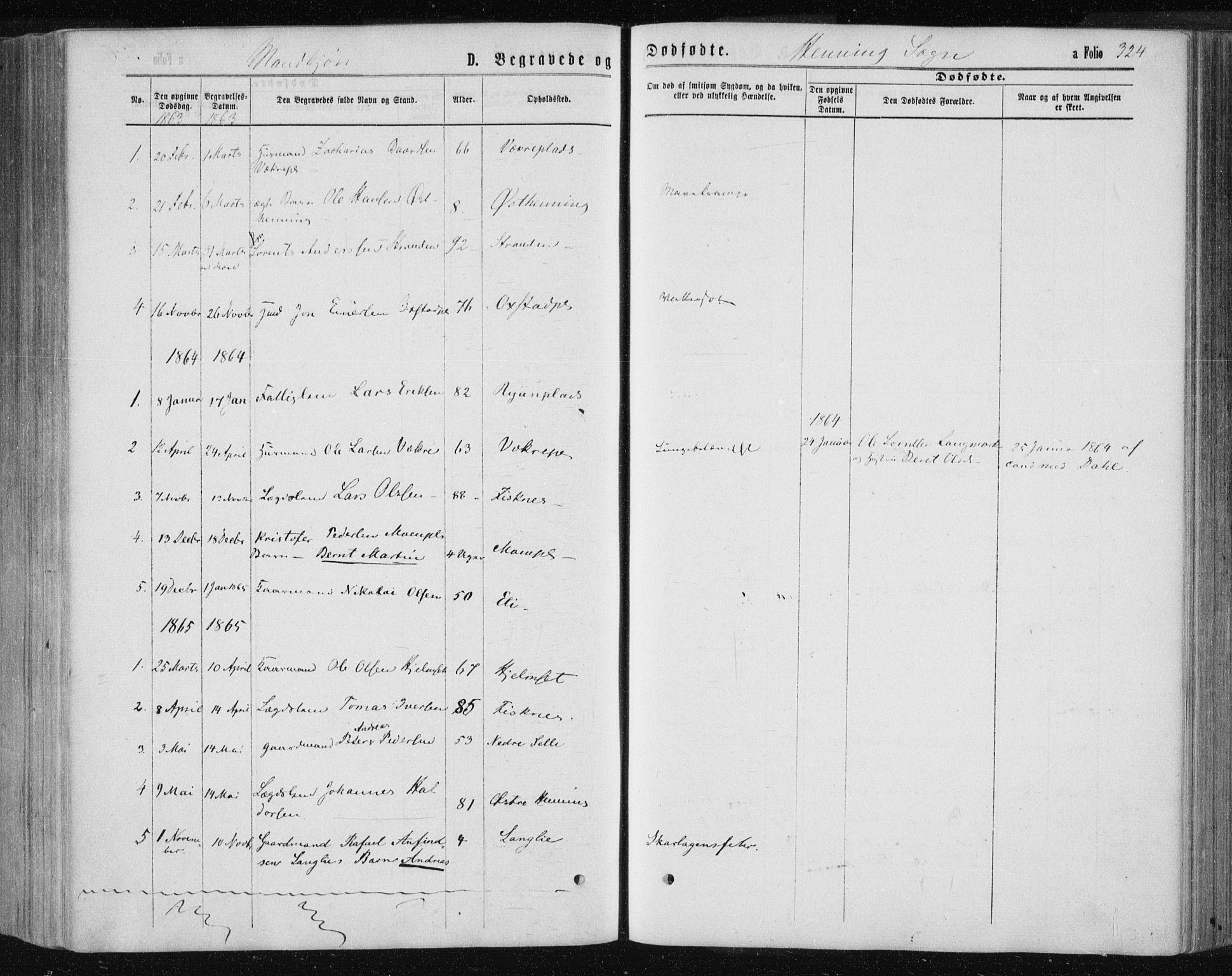 SAT, Ministerialprotokoller, klokkerbøker og fødselsregistre - Nord-Trøndelag, 735/L0345: Ministerialbok nr. 735A08 /3, 1863-1872, s. 324