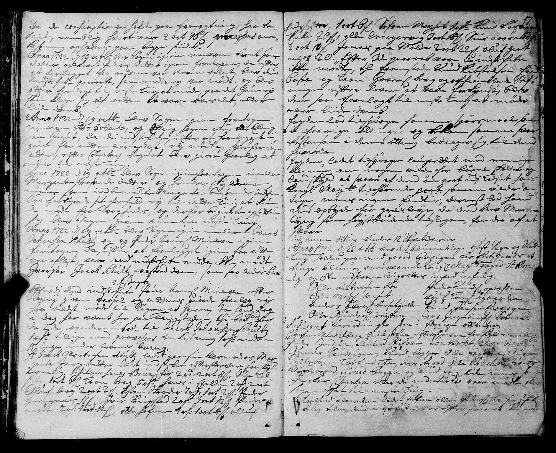 SAT, Romsdal sorenskriveri, 1/1A/L0009: Tingbok, 1722-1728, s. 16b-17a