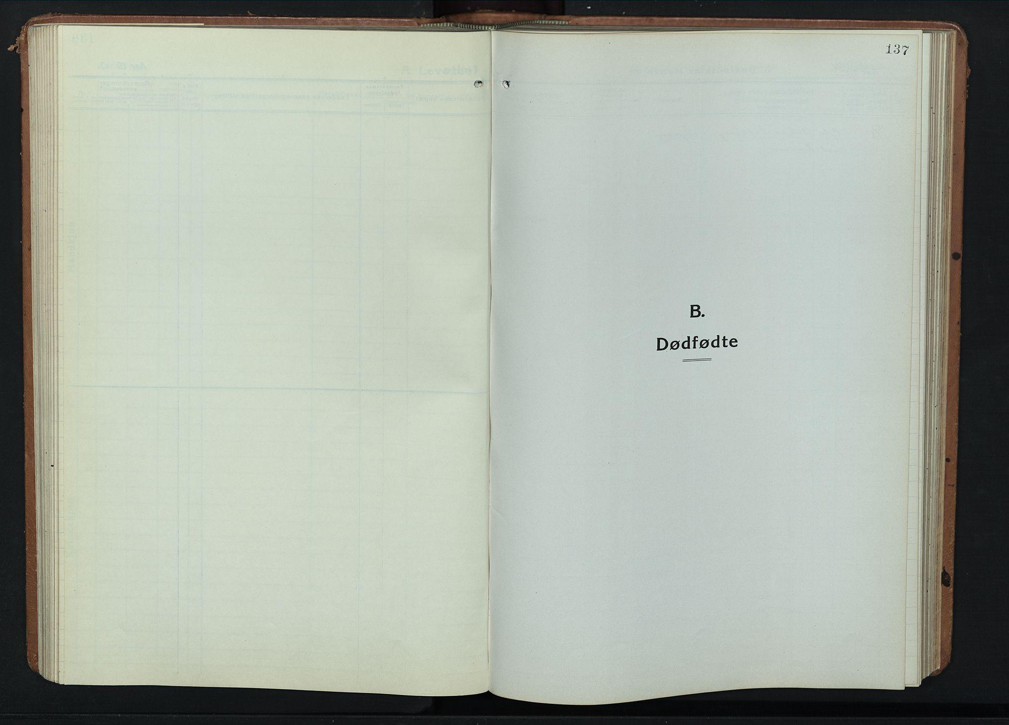 SAH, Fåberg prestekontor, Klokkerbok nr. 14, 1922-1946, s. 137