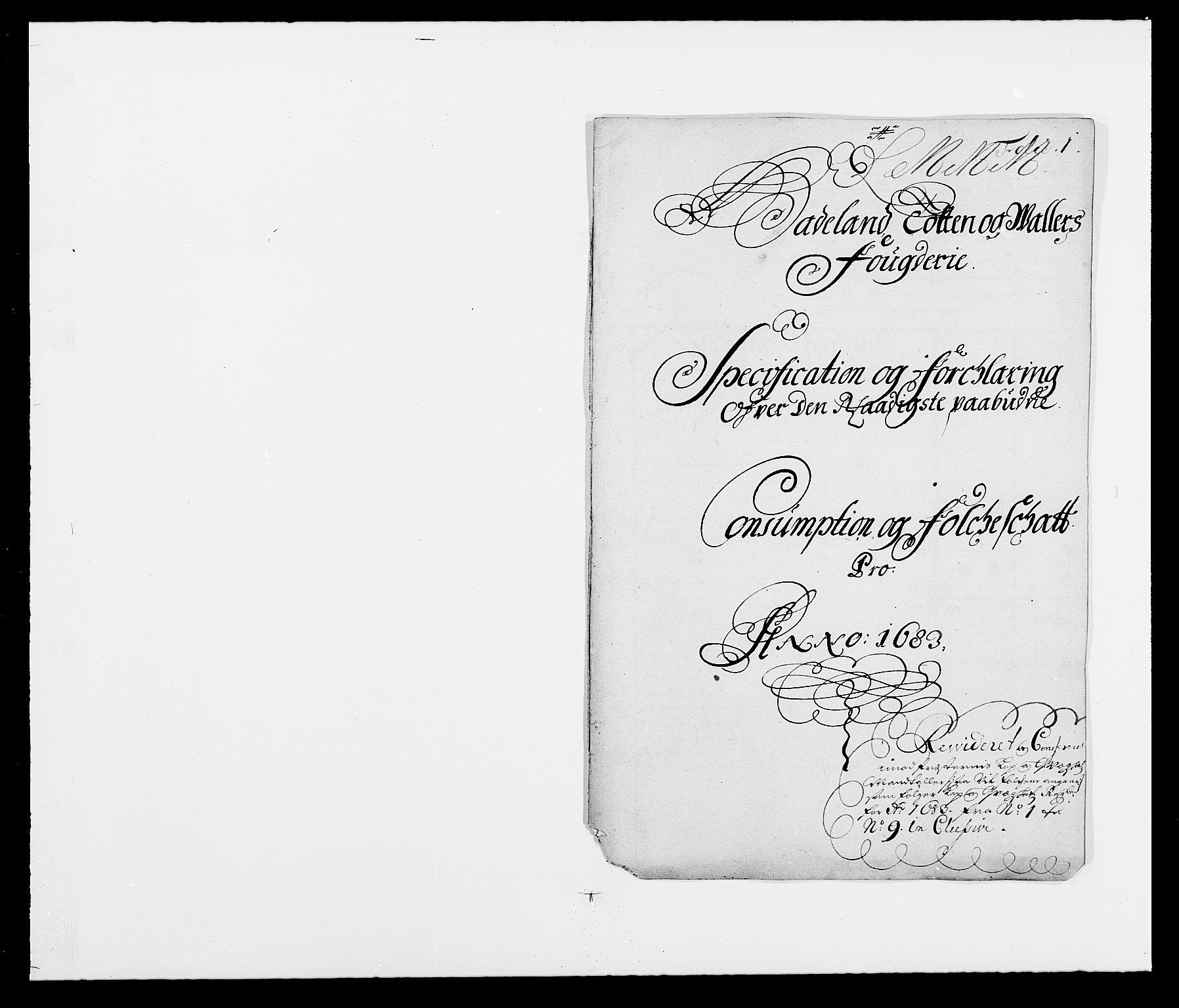 RA, Rentekammeret inntil 1814, Reviderte regnskaper, Fogderegnskap, R18/L1282: Fogderegnskap Hadeland, Toten og Valdres, 1683, s. 215