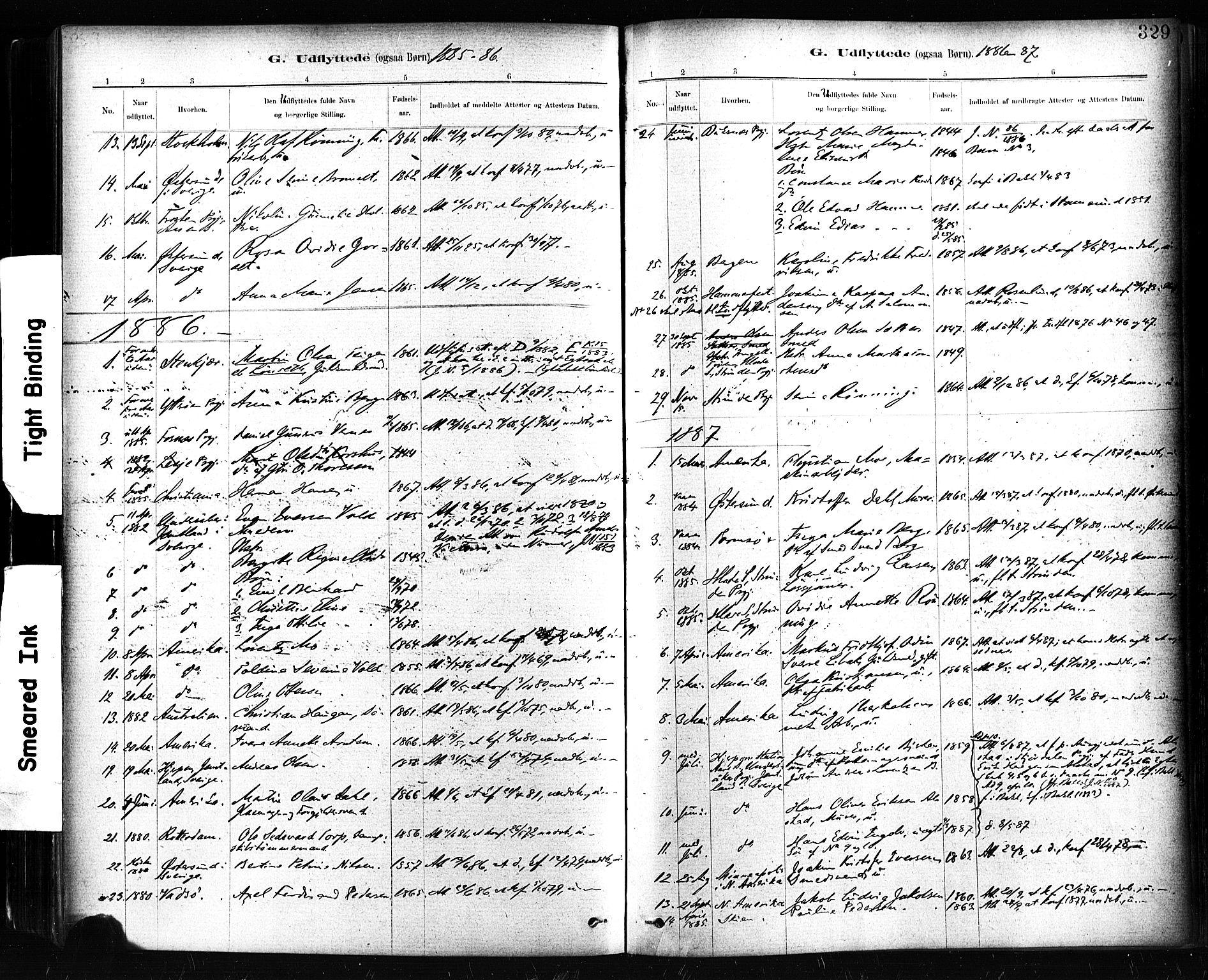 SAT, Ministerialprotokoller, klokkerbøker og fødselsregistre - Sør-Trøndelag, 604/L0189: Ministerialbok nr. 604A10, 1878-1892, s. 329