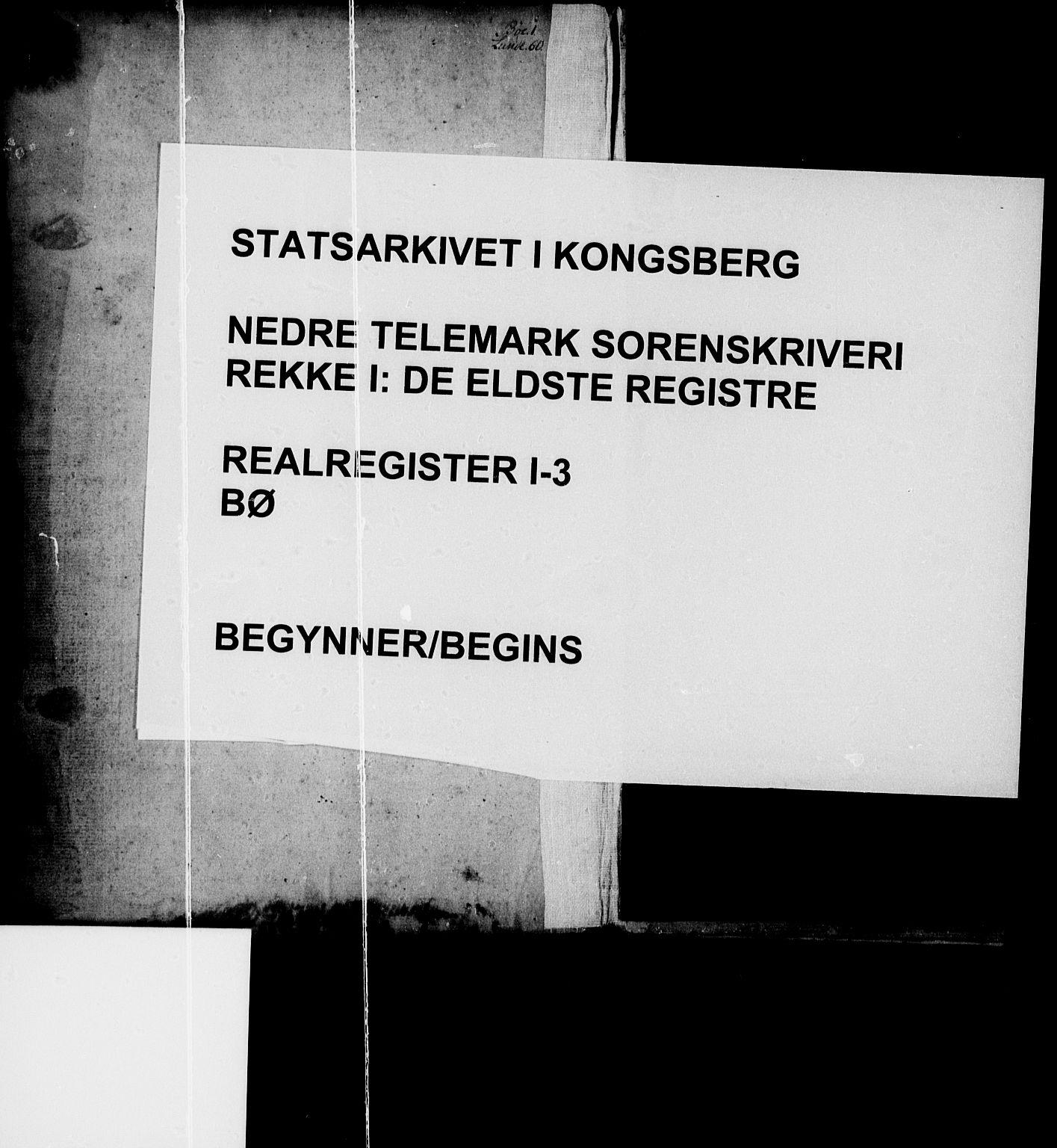 SAKO, Nedre Telemark sorenskriveri, G/Gb/Gba/L0003: Panteregister nr. I 3