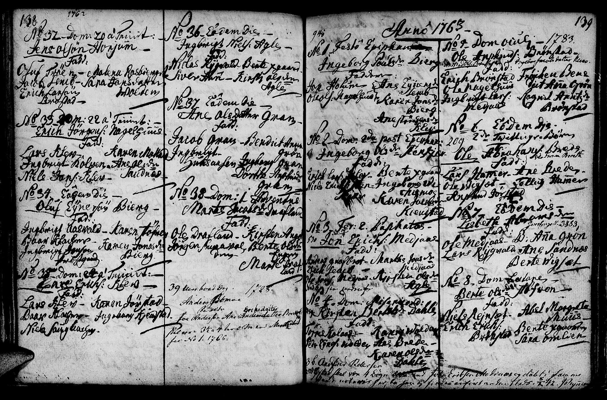 SAT, Ministerialprotokoller, klokkerbøker og fødselsregistre - Nord-Trøndelag, 749/L0467: Ministerialbok nr. 749A01, 1733-1787, s. 138-139