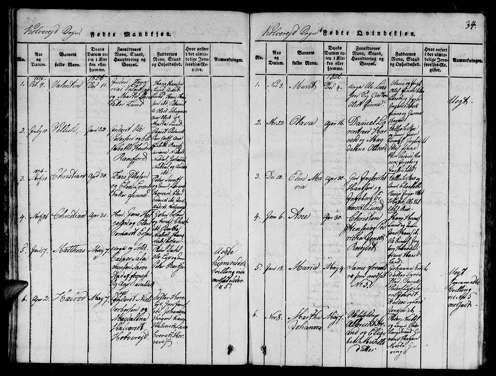 SAT, Ministerialprotokoller, klokkerbøker og fødselsregistre - Nord-Trøndelag, 780/L0648: Klokkerbok nr. 780C01 /1, 1815-1870, s. 34