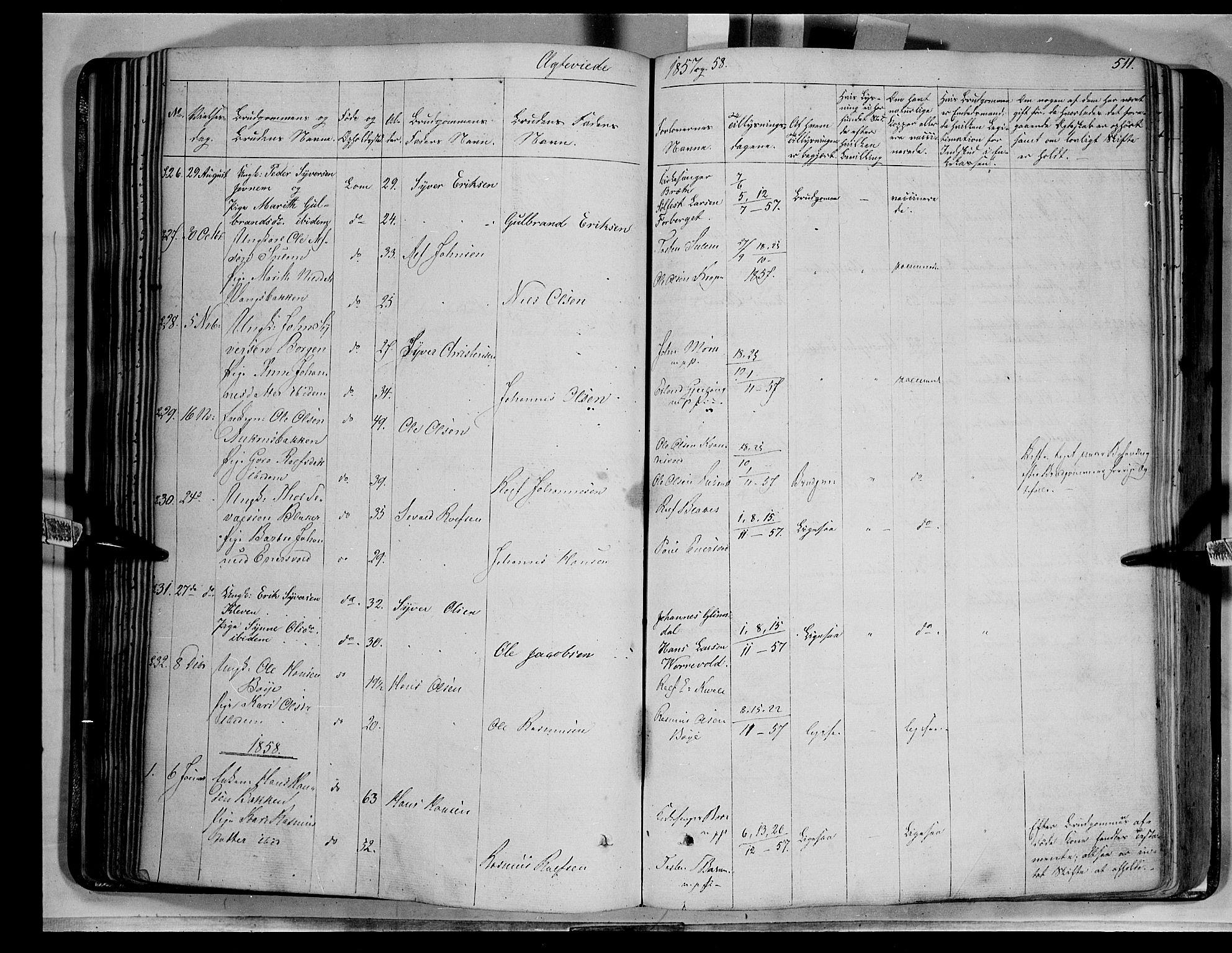 SAH, Lom prestekontor, K/L0006: Ministerialbok nr. 6B, 1837-1863, s. 511