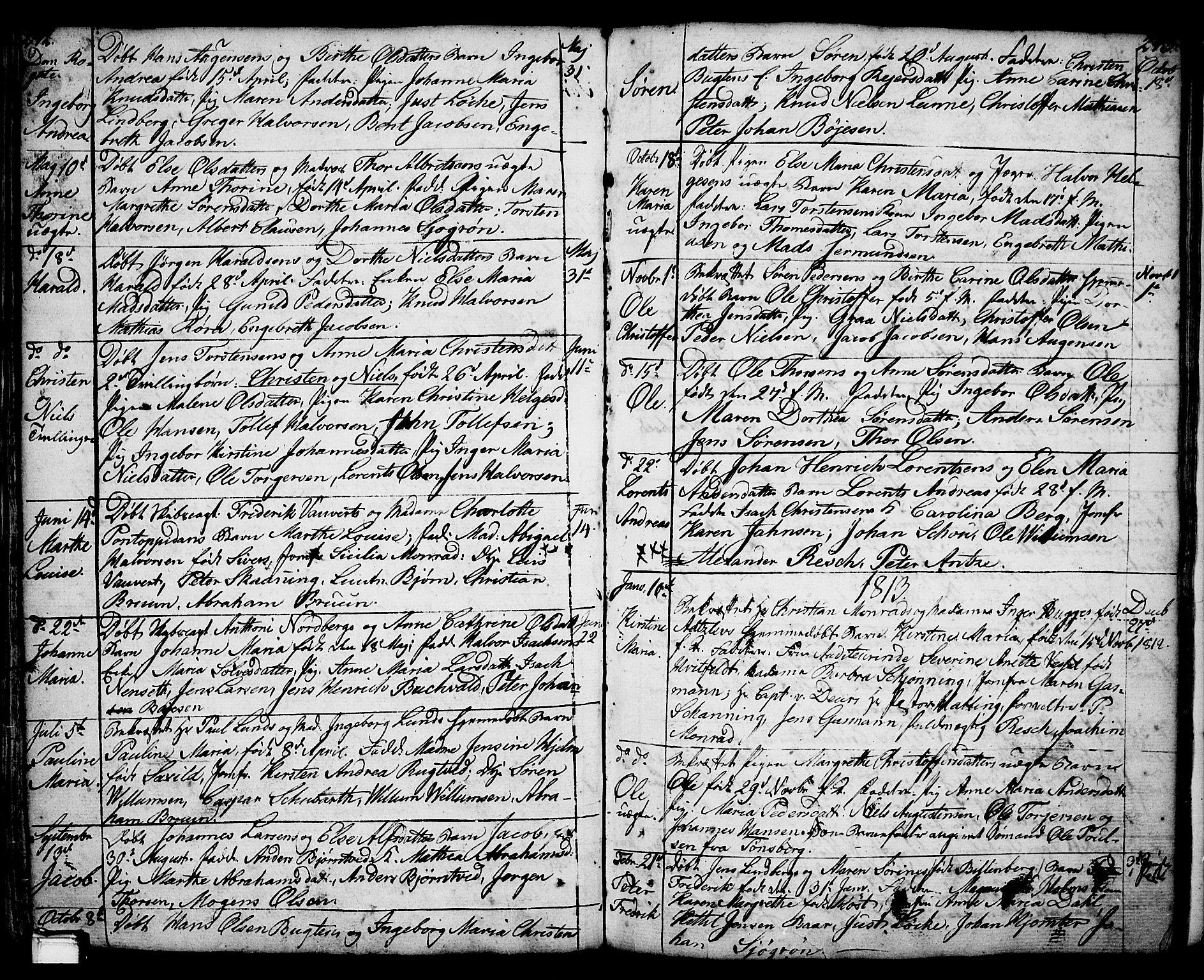 SAKO, Porsgrunn kirkebøker , F/Fa/L0001: Ministerialbok nr. 1, 1764-1814, s. 242-243