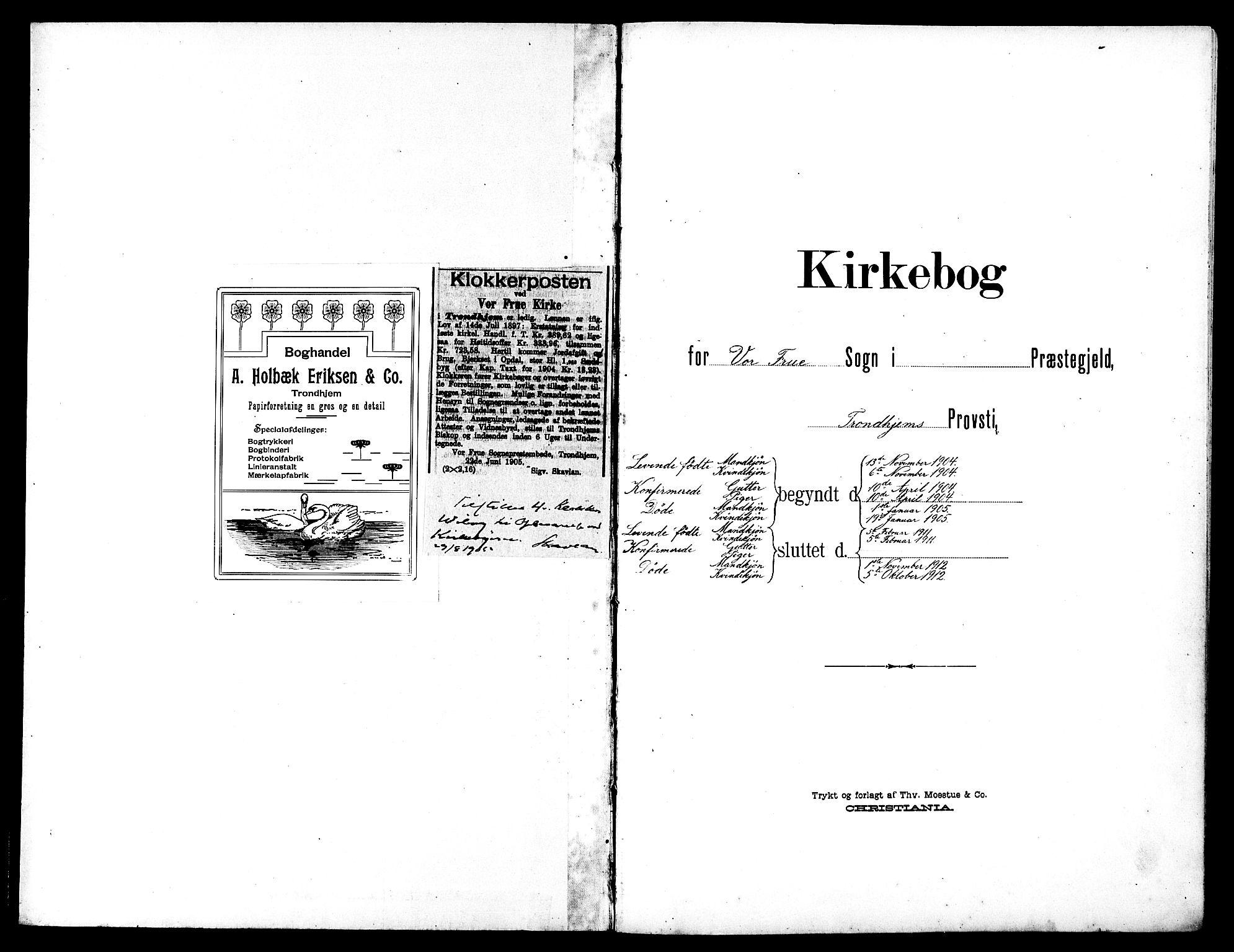 SAT, Ministerialprotokoller, klokkerbøker og fødselsregistre - Sør-Trøndelag, 602/L0146: Klokkerbok nr. 602C14, 1904-1914