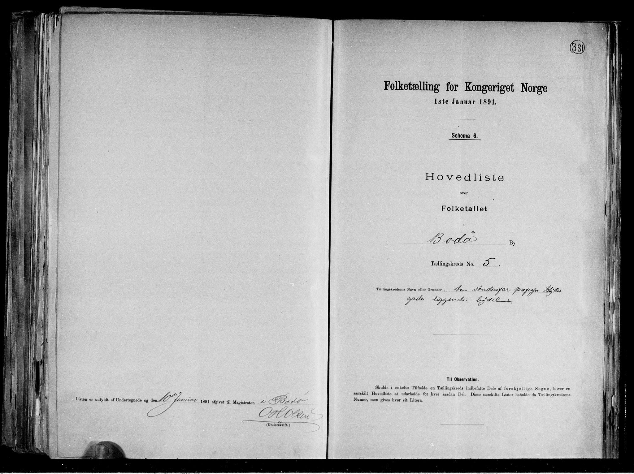 RA, Folketelling 1891 for 1804 Bodø kjøpstad, 1891, s. 14