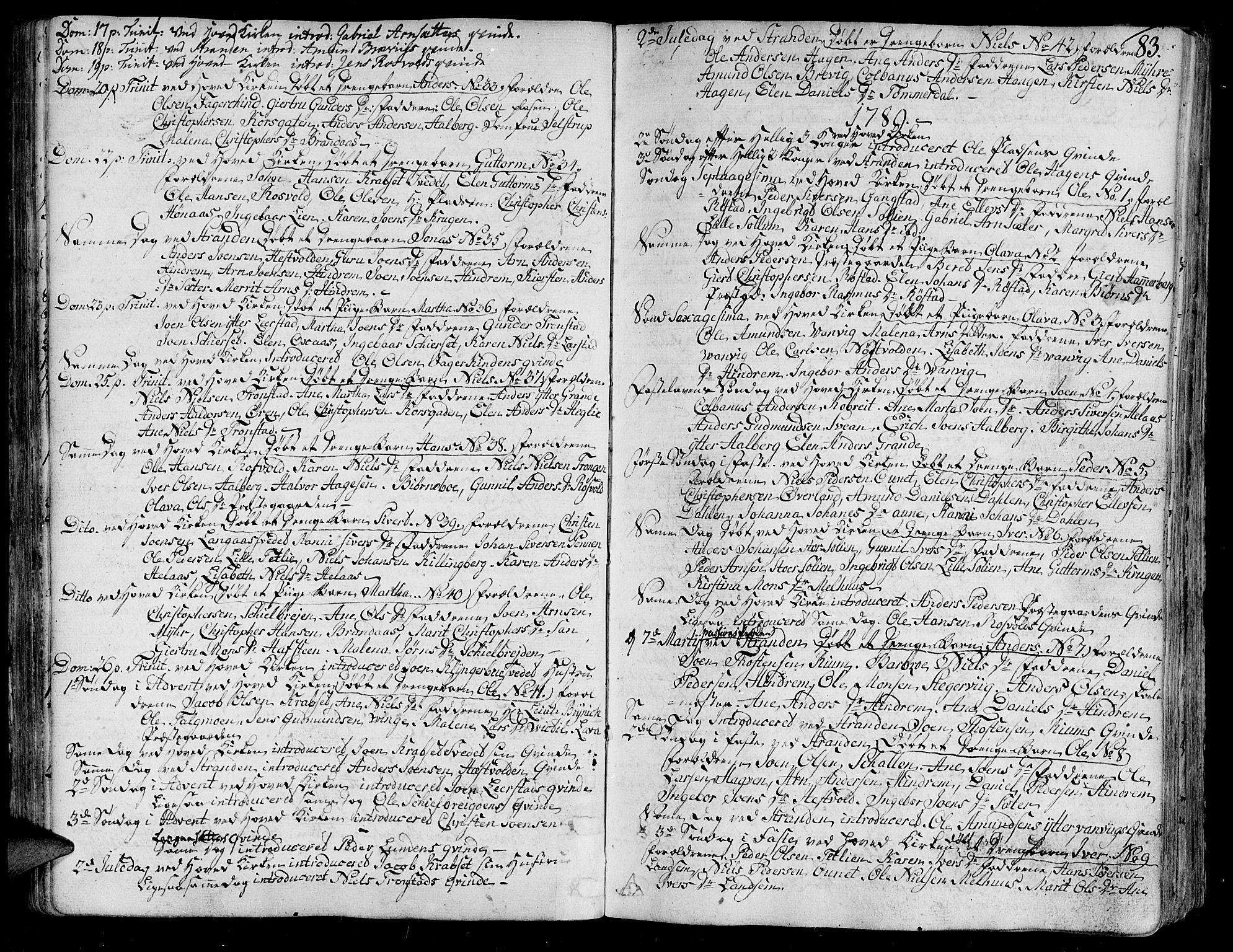 SAT, Ministerialprotokoller, klokkerbøker og fødselsregistre - Nord-Trøndelag, 701/L0004: Ministerialbok nr. 701A04, 1783-1816, s. 83