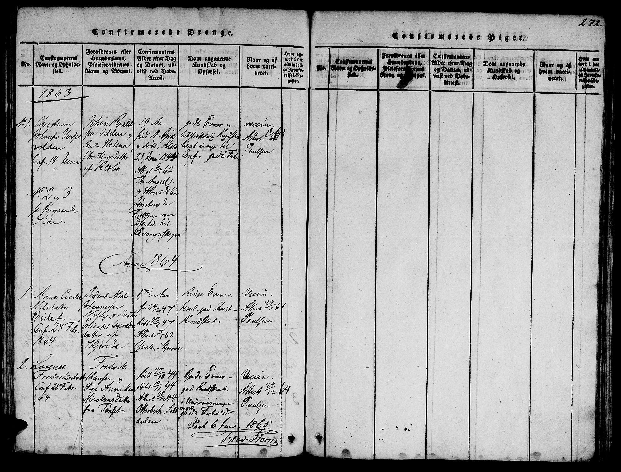 SAT, Ministerialprotokoller, klokkerbøker og fødselsregistre - Sør-Trøndelag, 623/L0478: Klokkerbok nr. 623C01, 1815-1873, s. 272