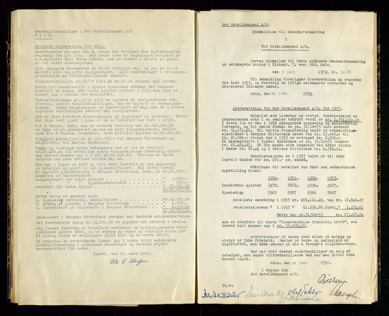 SAST, PA 1516 - Nor Hotellkompani A/S, A/L0001: Referatprotokoll, 1948-1855, s. 36