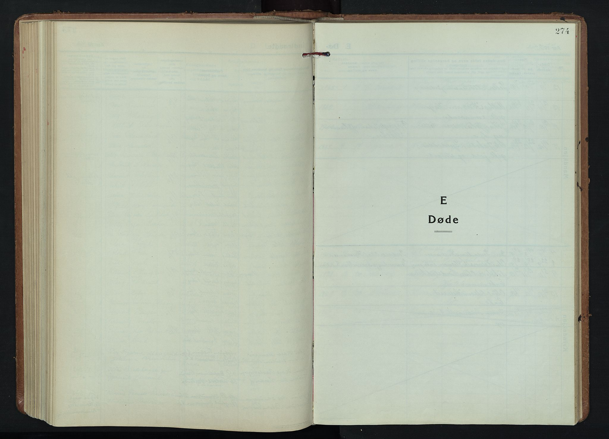 SAH, Fåberg prestekontor, H/Ha/Hab/L0015: Klokkerbok nr. 15, 1924-1949, s. 274