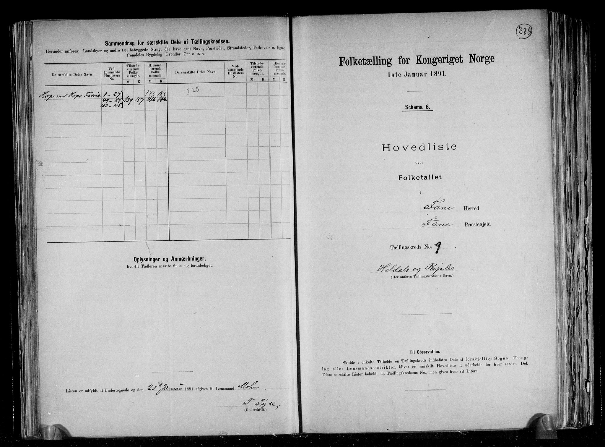 RA, Folketelling 1891 for 1249 Fana herred, 1891, s. 22