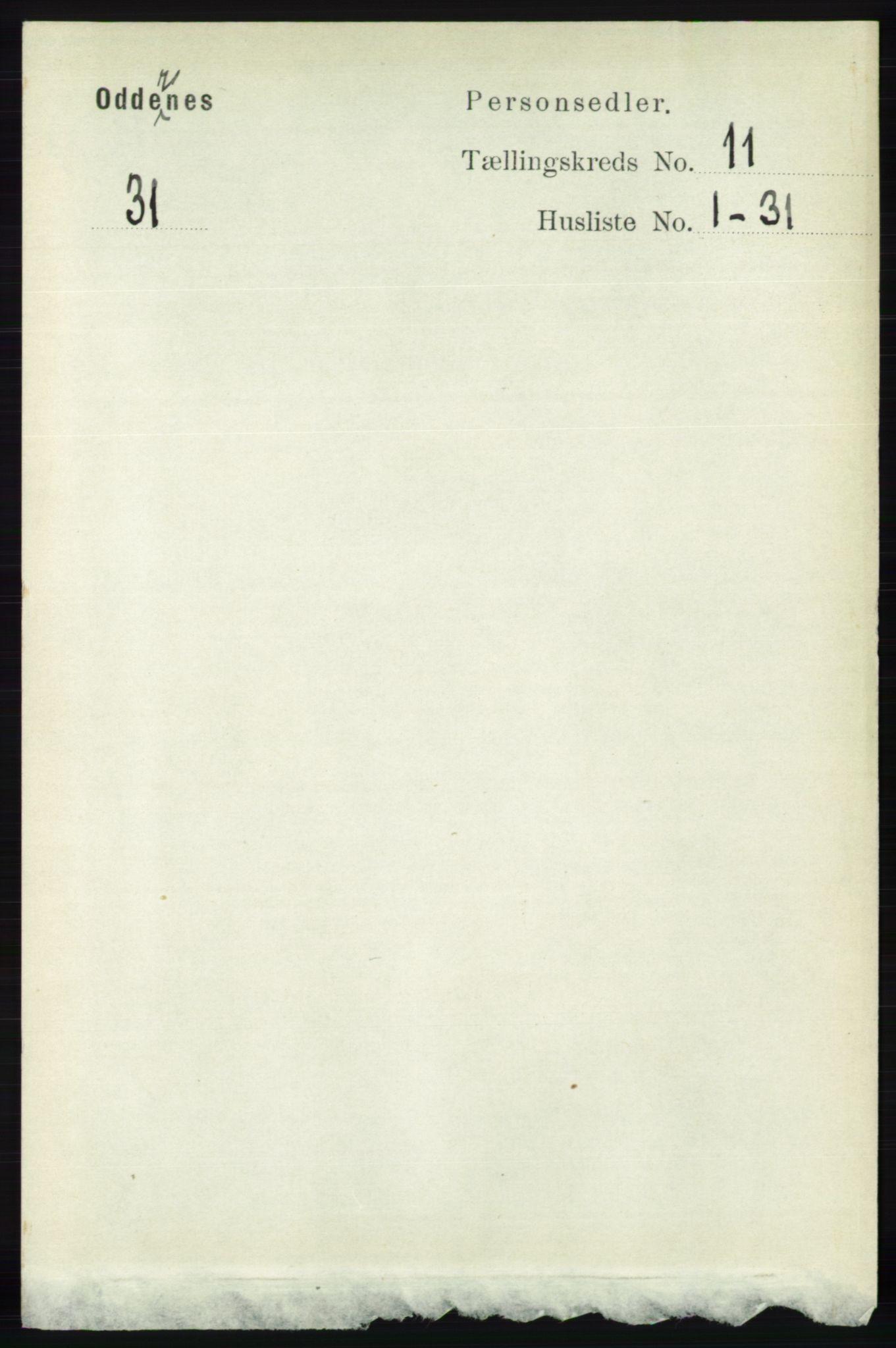 RA, Folketelling 1891 for 1012 Oddernes herred, 1891, s. 4135