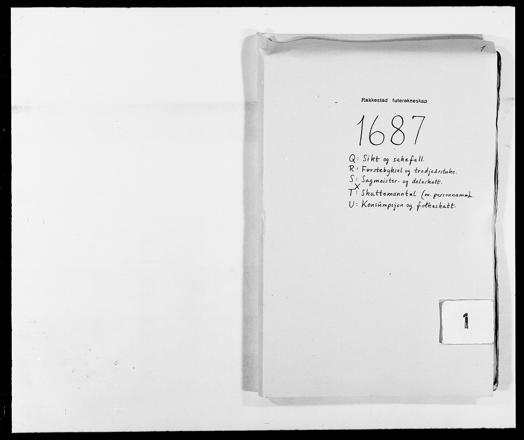 RA, Rentekammeret inntil 1814, Reviderte regnskaper, Fogderegnskap, R05/L0276: Fogderegnskap Rakkestad, 1683-1688, s. 1