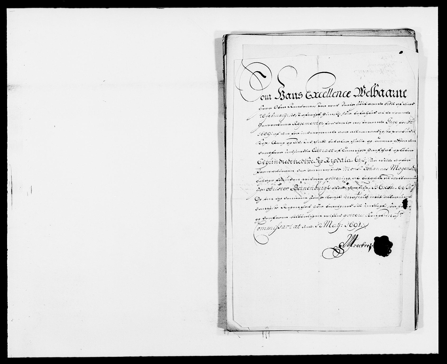 RA, Rentekammeret inntil 1814, Reviderte regnskaper, Fogderegnskap, R33/L1972: Fogderegnskap Larvik grevskap, 1690-1691, s. 412