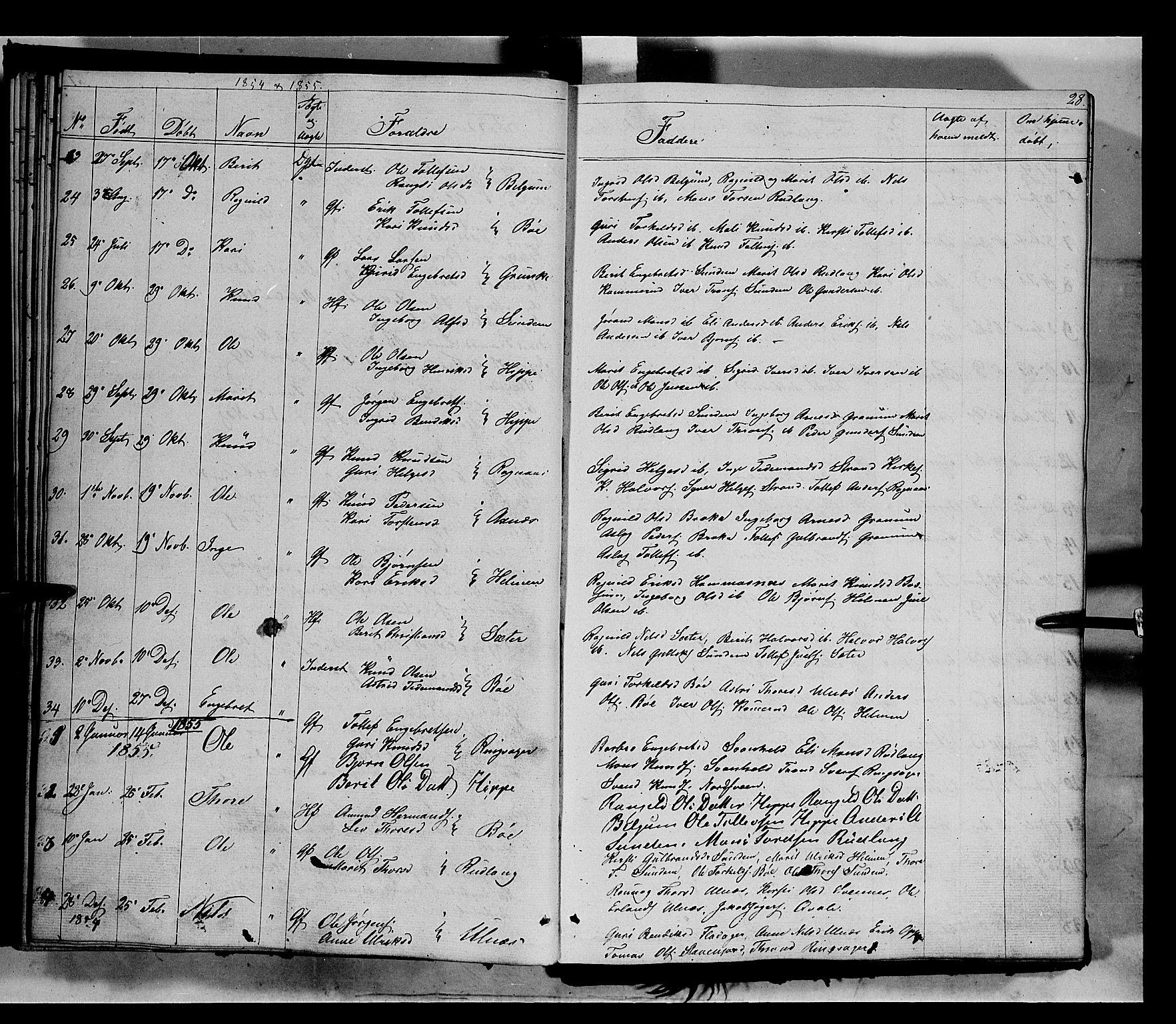 SAH, Nord-Aurdal prestekontor, Ministerialbok nr. 6, 1842-1863, s. 28