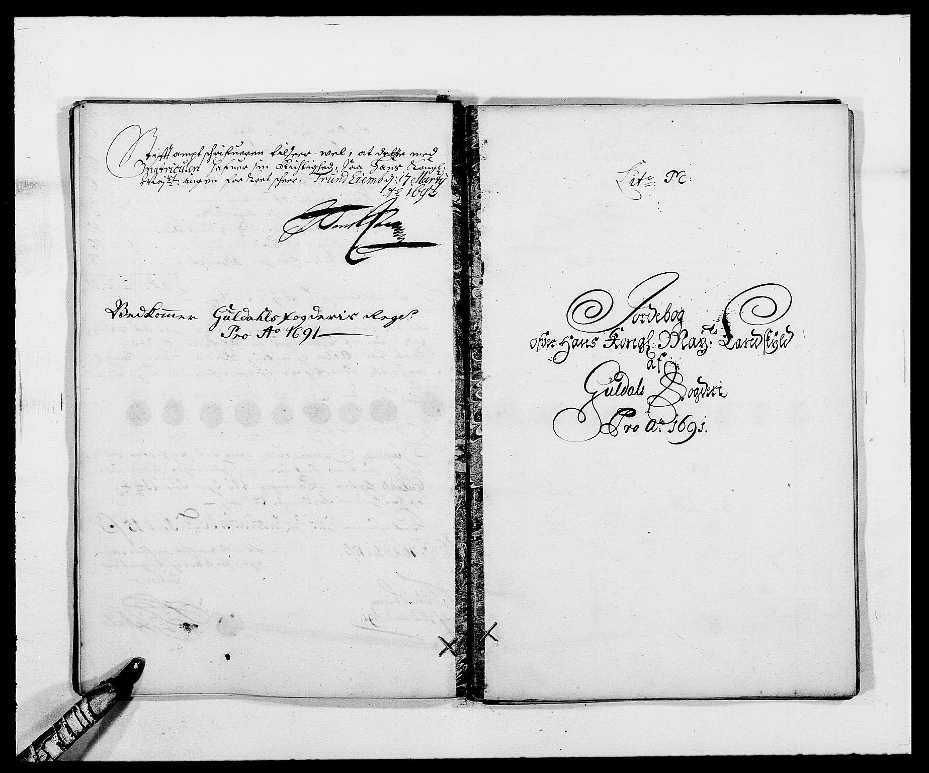 RA, Rentekammeret inntil 1814, Reviderte regnskaper, Fogderegnskap, R59/L3941: Fogderegnskap Gauldal, 1691, s. 127
