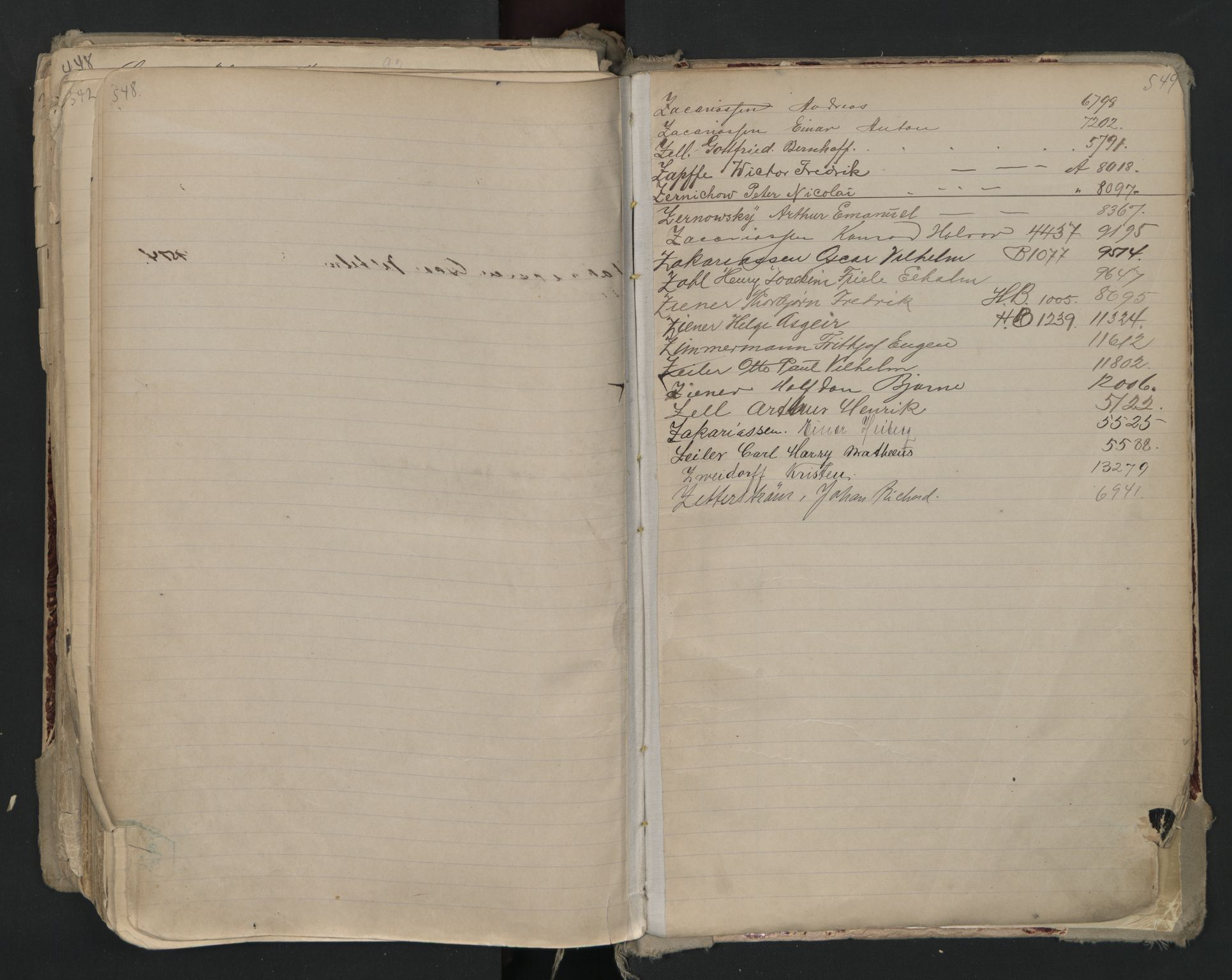 SAO, Oslo sjømannskontor, F/Fa/L0002: Register for Kristiania krets, 1866-1930, s. 548-549