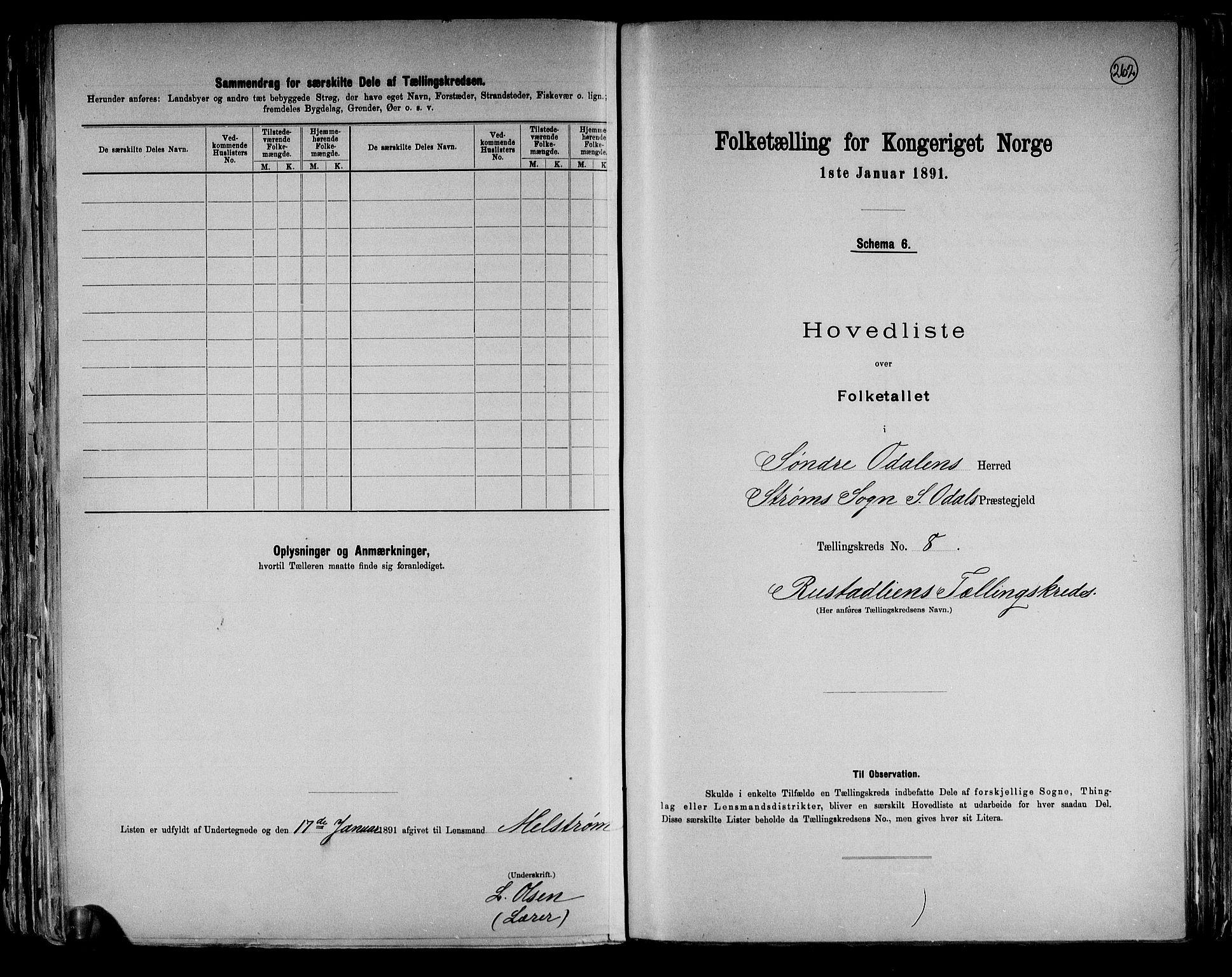 RA, Folketelling 1891 for 0419 Sør-Odal herred, 1891, s. 24