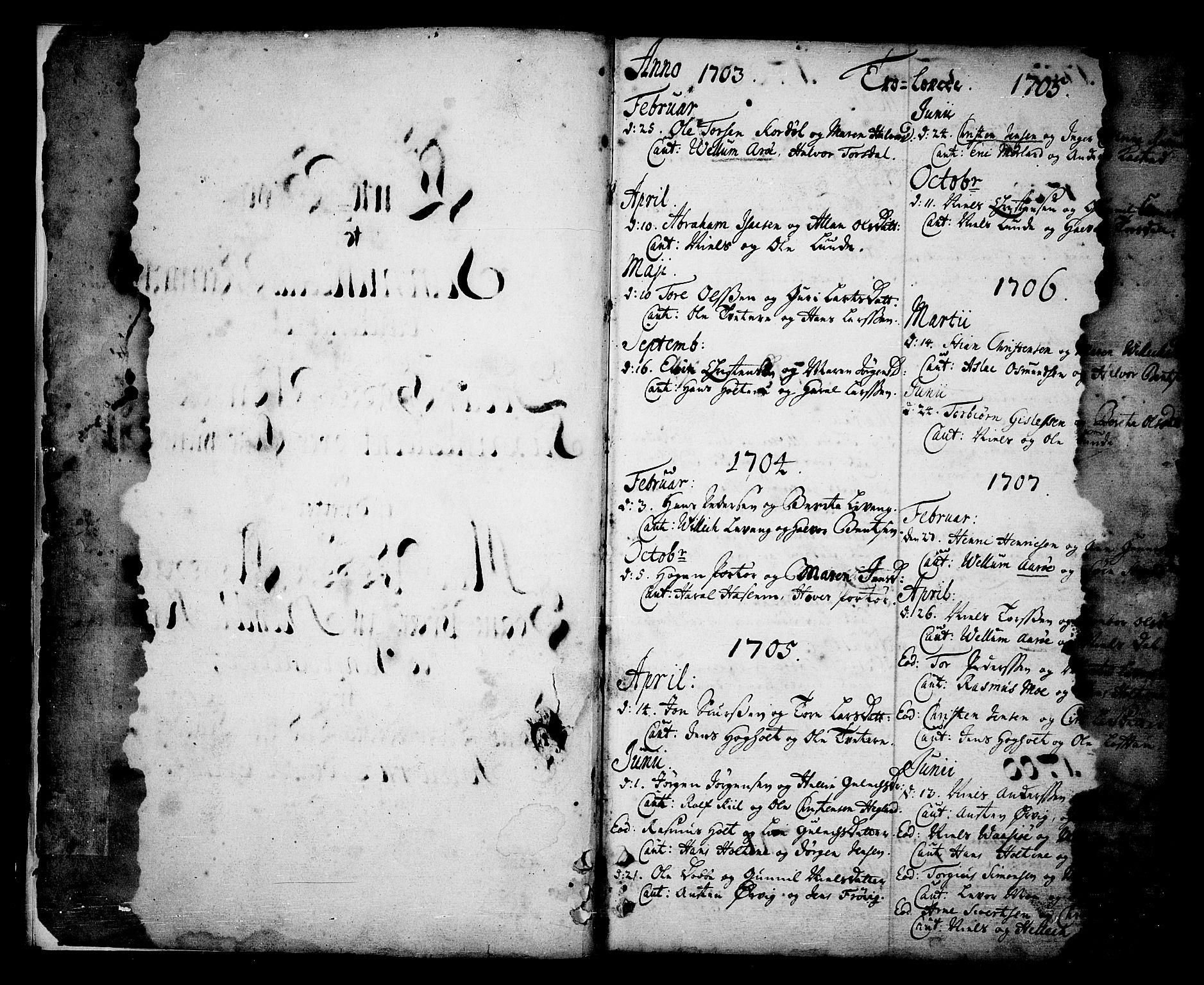 SAKO, Sannidal kirkebøker, F/Fa/L0001: Ministerialbok nr. 1, 1702-1766, s. 0-1
