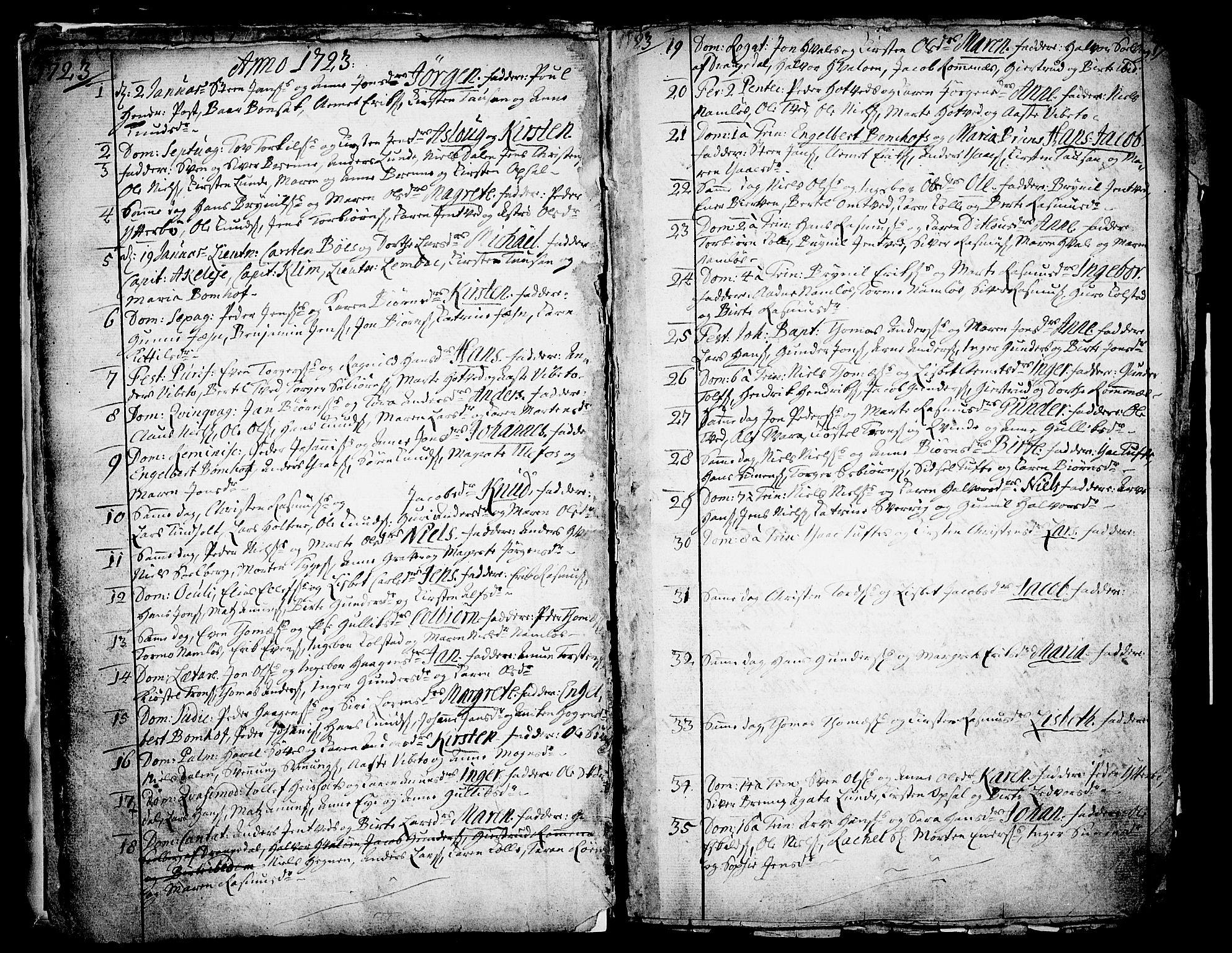 SAKO, Holla kirkebøker, F/Fa/L0001: Ministerialbok nr. 1, 1717-1779, s. 9