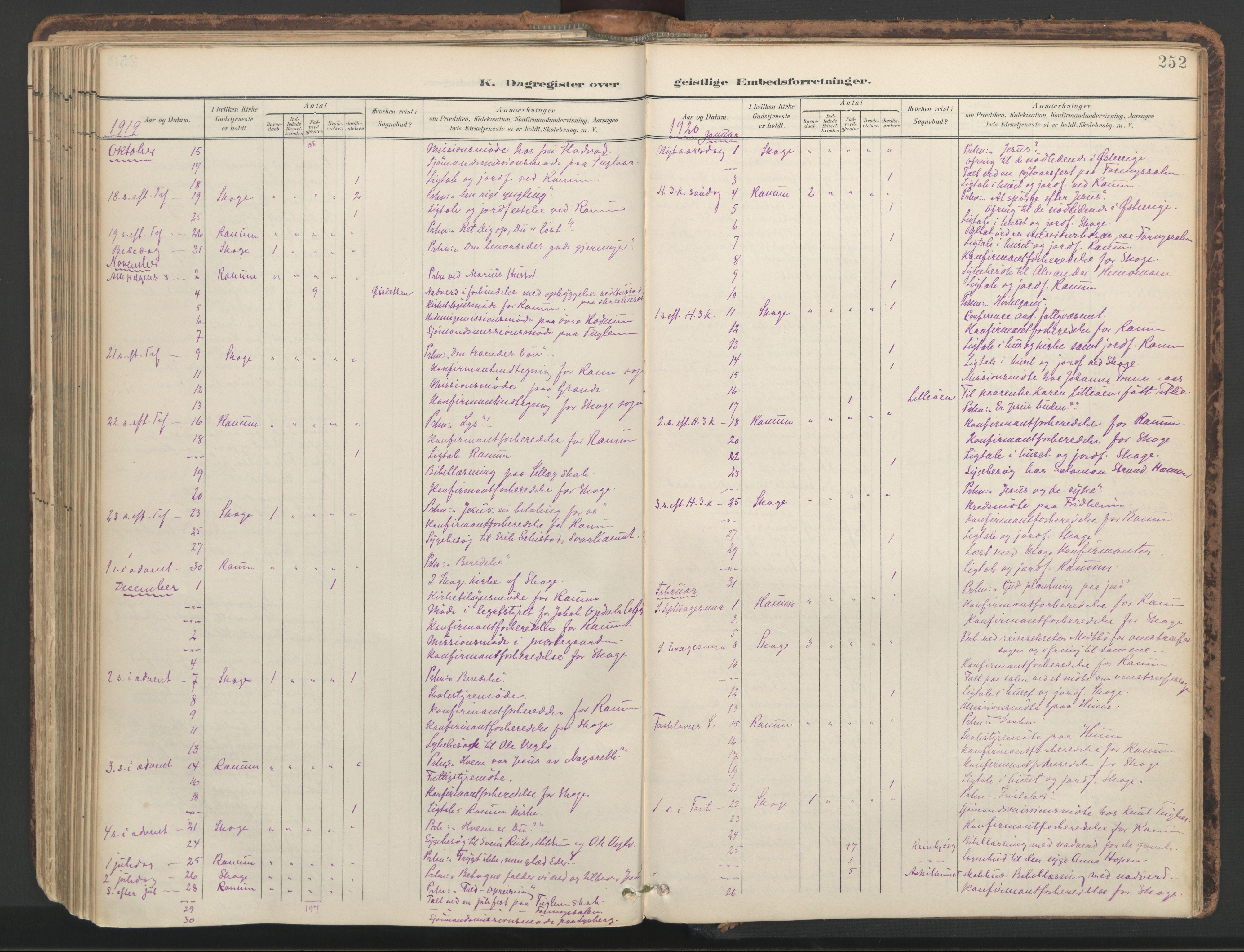 SAT, Ministerialprotokoller, klokkerbøker og fødselsregistre - Nord-Trøndelag, 764/L0556: Ministerialbok nr. 764A11, 1897-1924, s. 252