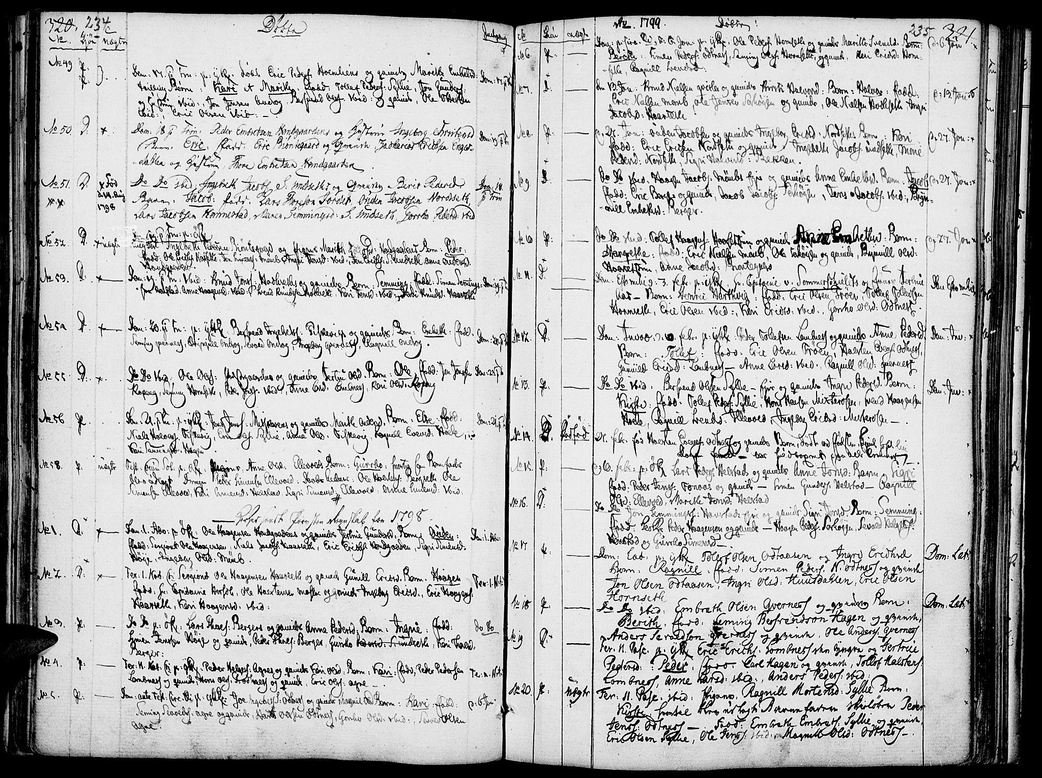 SAH, Rendalen prestekontor, H/Ha/Haa/L0002: Ministerialbok nr. 2, 1788-1814, s. 234-235