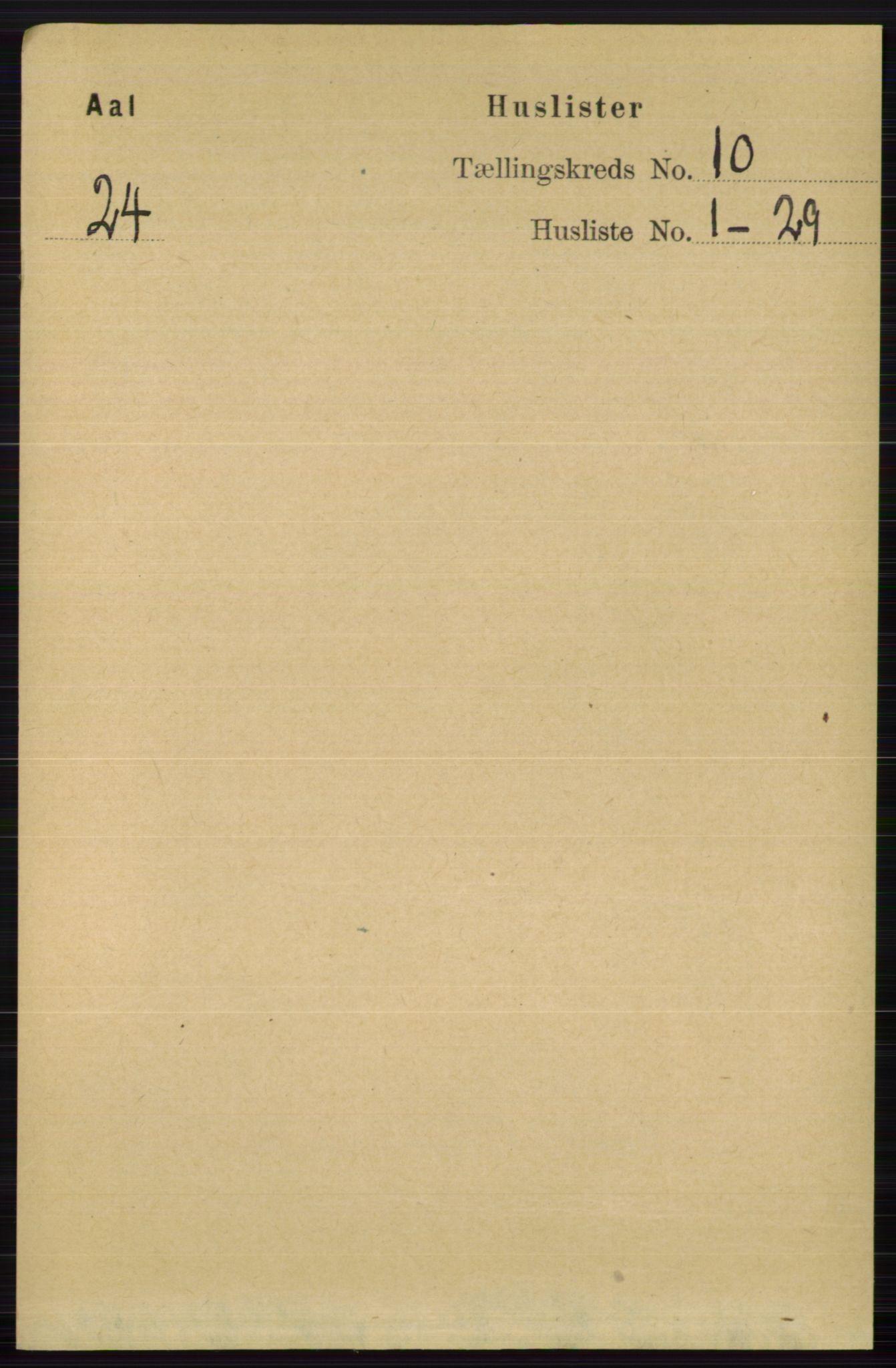RA, Folketelling 1891 for 0619 Ål herred, 1891, s. 2661