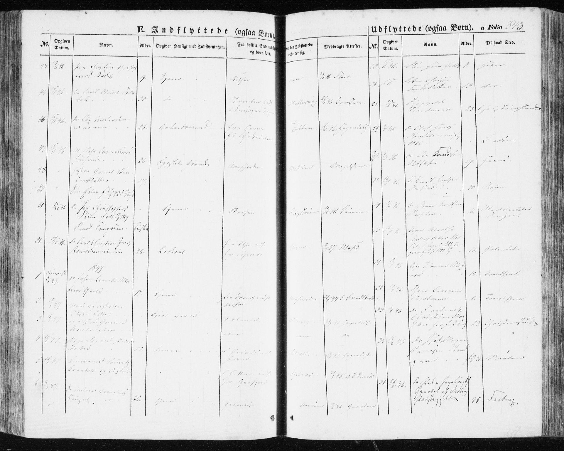 SAT, Ministerialprotokoller, klokkerbøker og fødselsregistre - Sør-Trøndelag, 634/L0529: Ministerialbok nr. 634A05, 1843-1851, s. 343