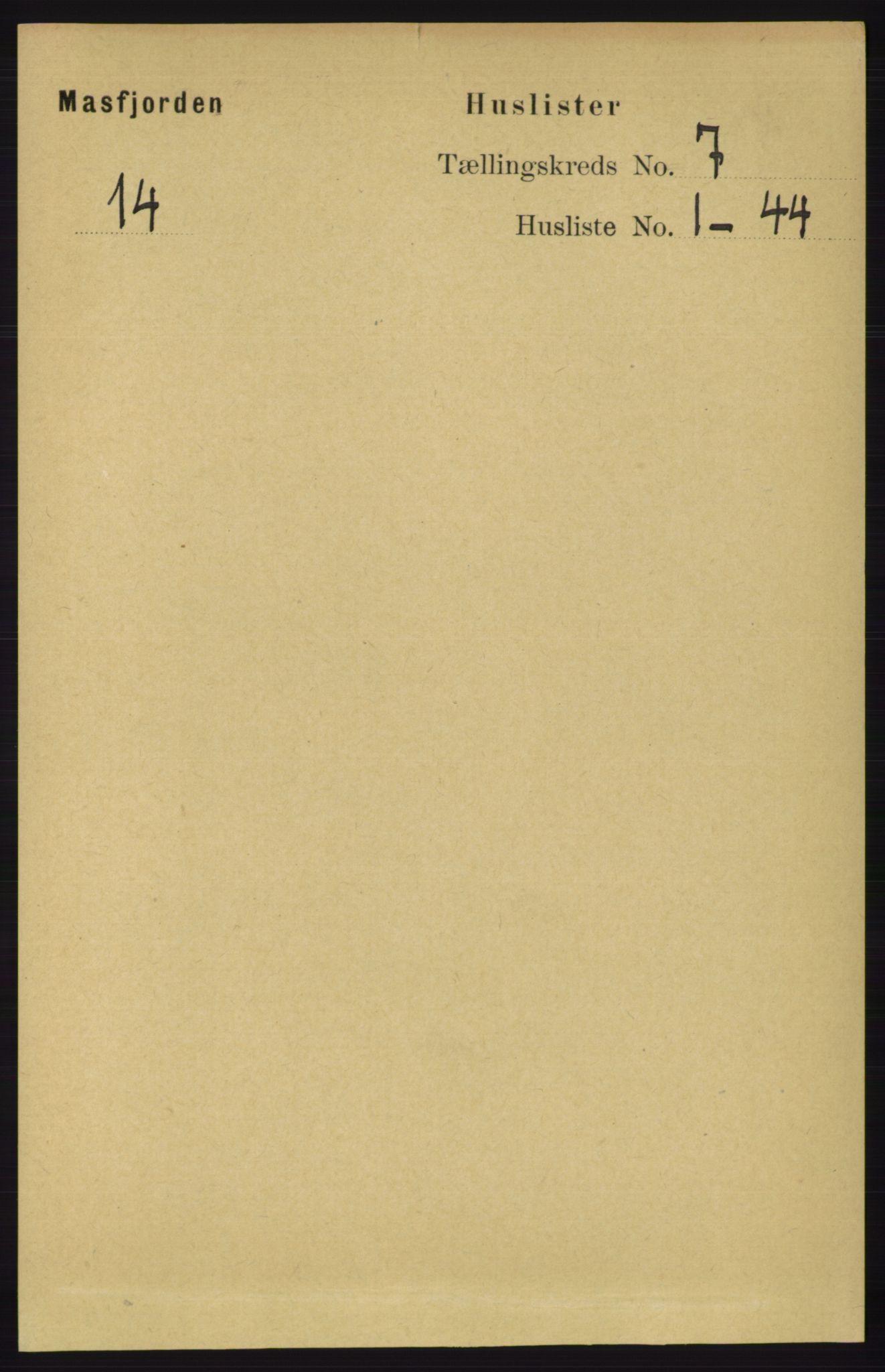 RA, Folketelling 1891 for 1266 Masfjorden herred, 1891, s. 1135