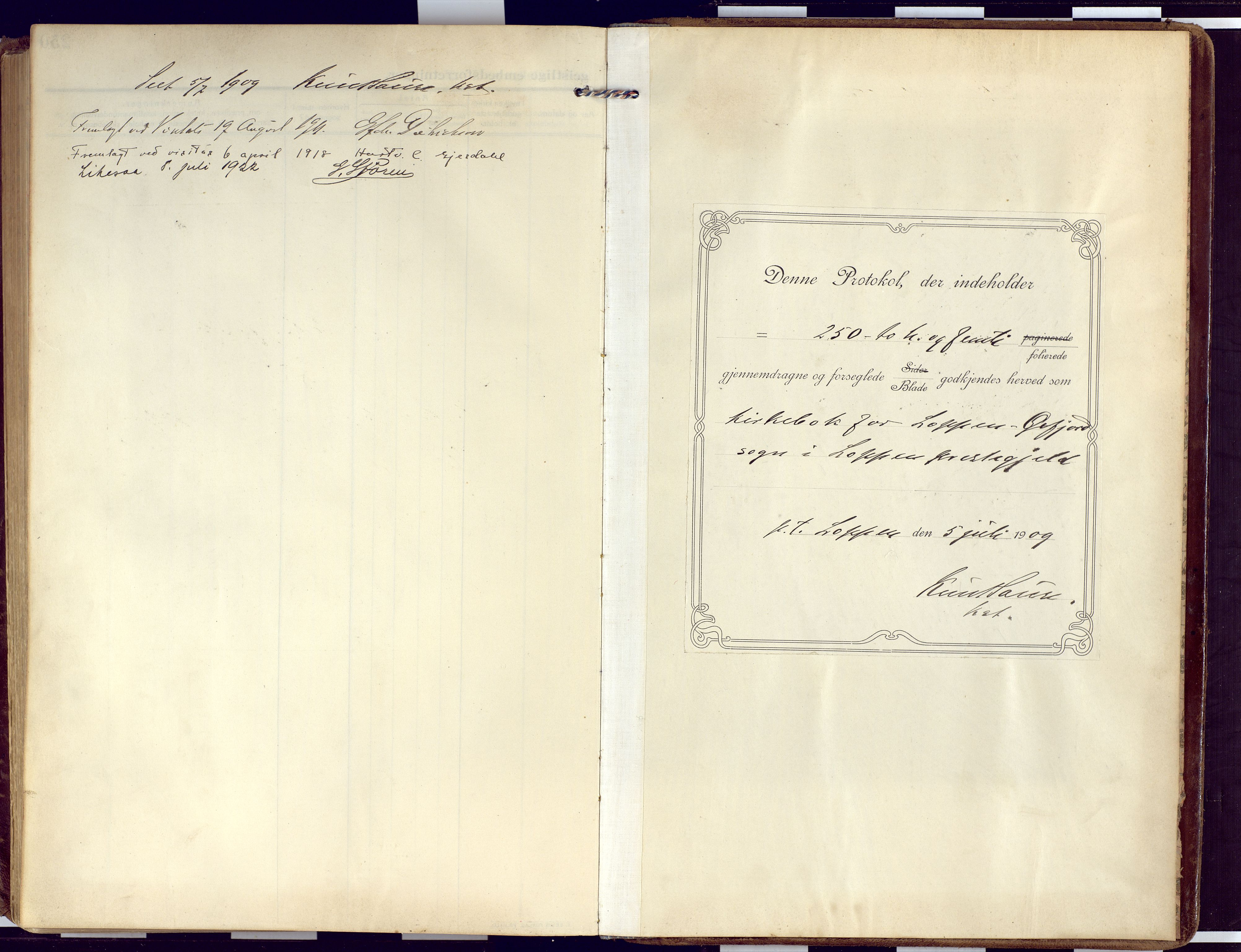 SATØ, Loppa sokneprestkontor, H/Ha/L0011kirke: Ministerialbok nr. 11, 1909-1919