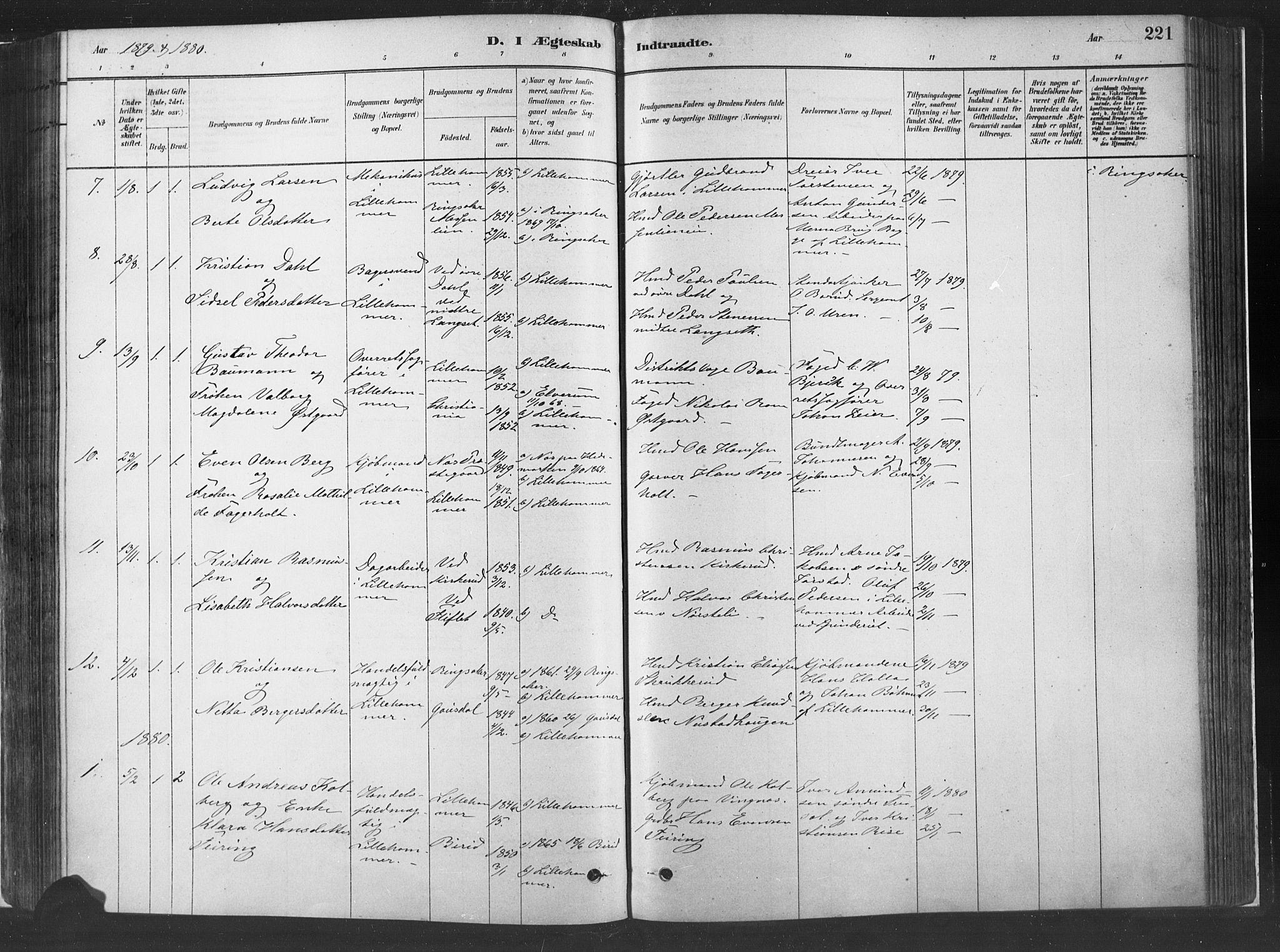 SAH, Fåberg prestekontor, Ministerialbok nr. 10, 1879-1900, s. 221