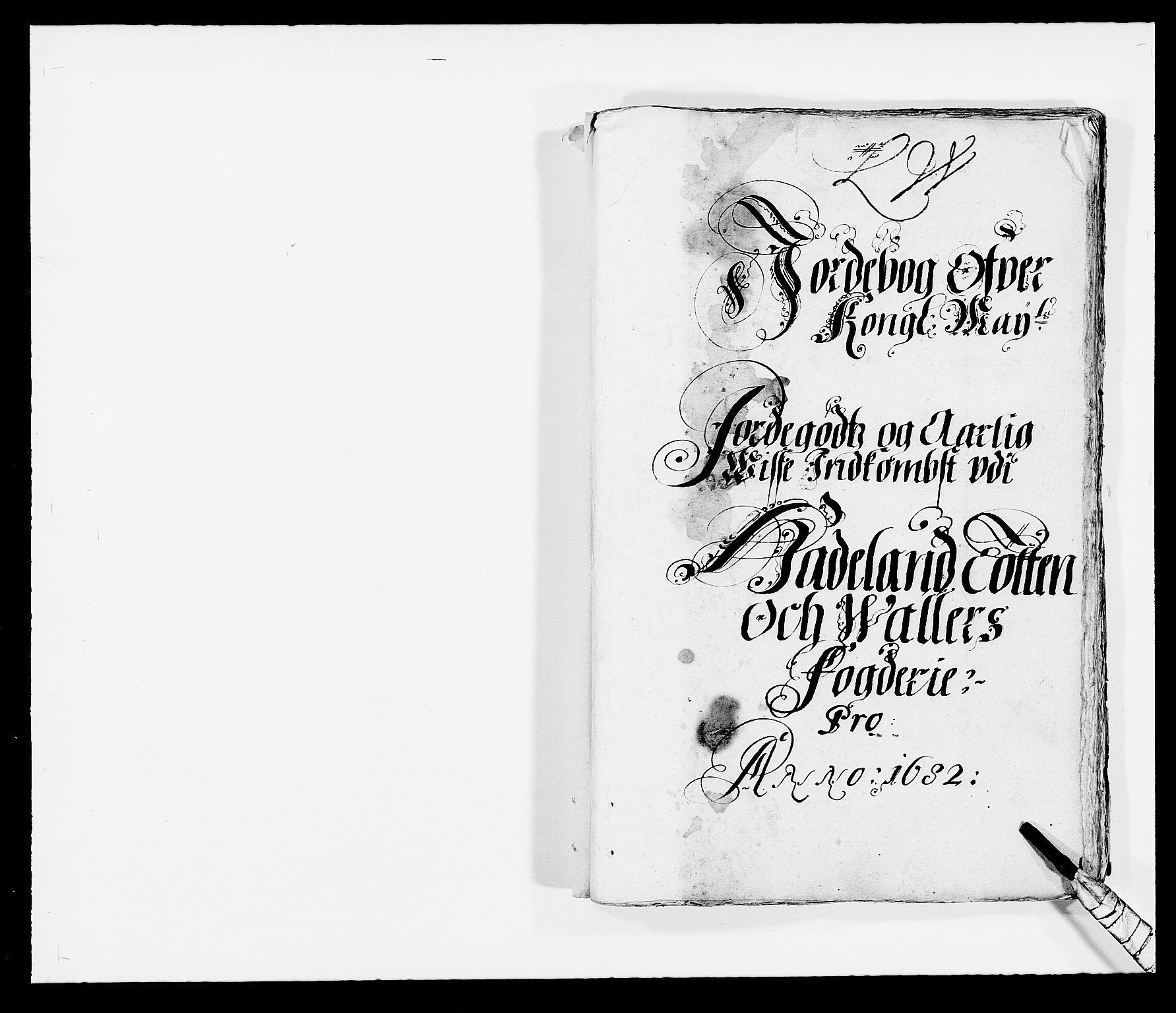 RA, Rentekammeret inntil 1814, Reviderte regnskaper, Fogderegnskap, R18/L1280: Fogderegnskap Hadeland, Toten og Valdres, 1682, s. 1