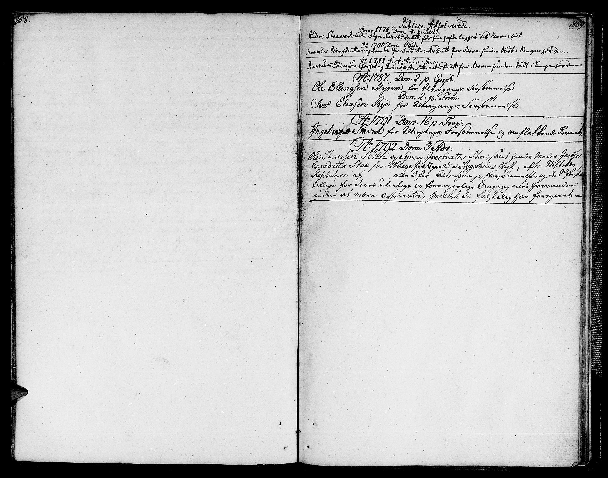 SAT, Ministerialprotokoller, klokkerbøker og fødselsregistre - Sør-Trøndelag, 672/L0852: Ministerialbok nr. 672A05, 1776-1815, s. 858-859
