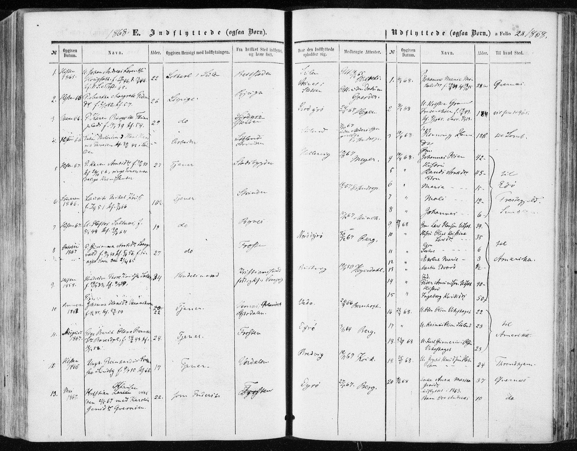 SAT, Ministerialprotokoller, klokkerbøker og fødselsregistre - Sør-Trøndelag, 634/L0531: Ministerialbok nr. 634A07, 1861-1870, s. 28