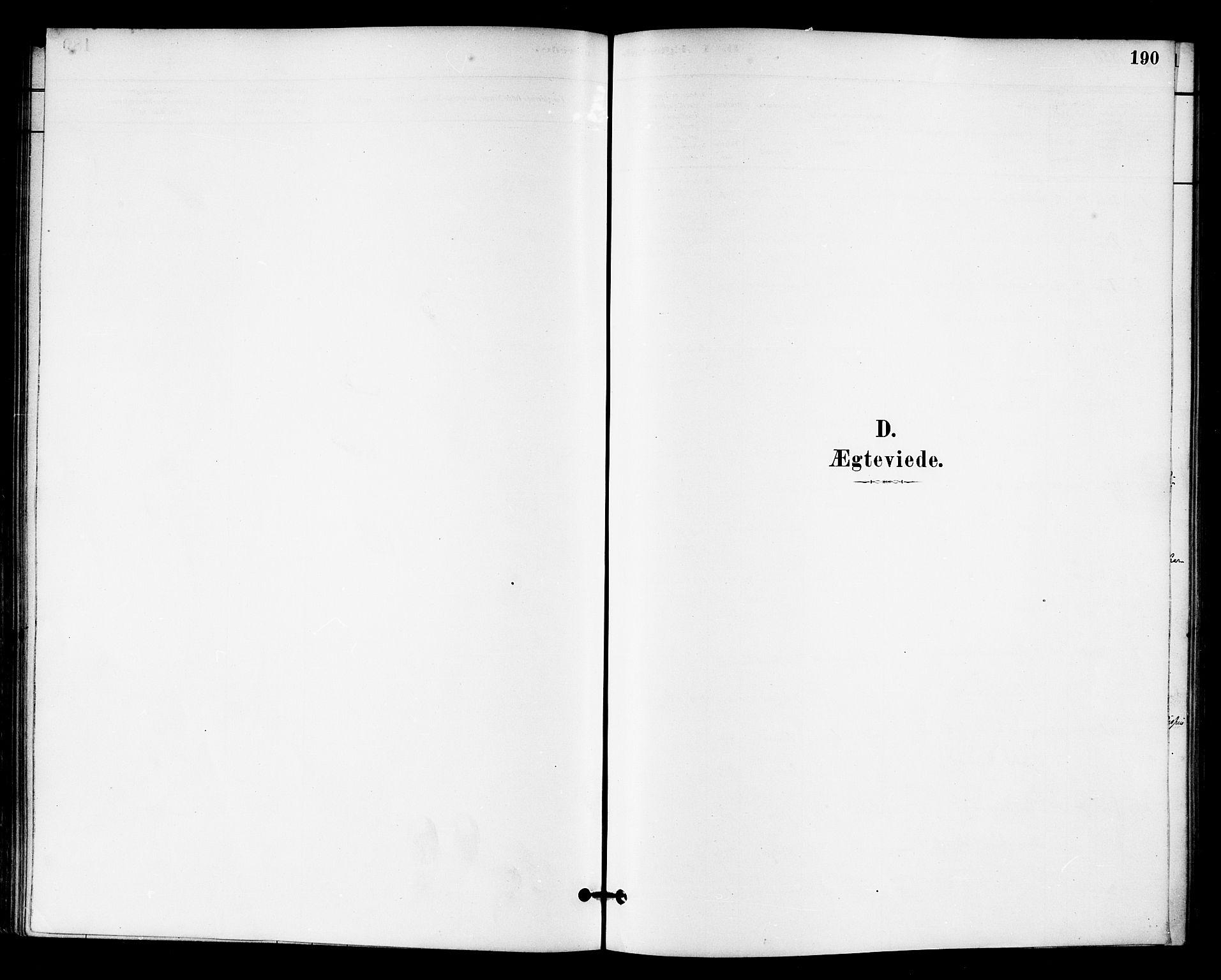 SAT, Ministerialprotokoller, klokkerbøker og fødselsregistre - Sør-Trøndelag, 655/L0680: Ministerialbok nr. 655A09, 1880-1894, s. 190