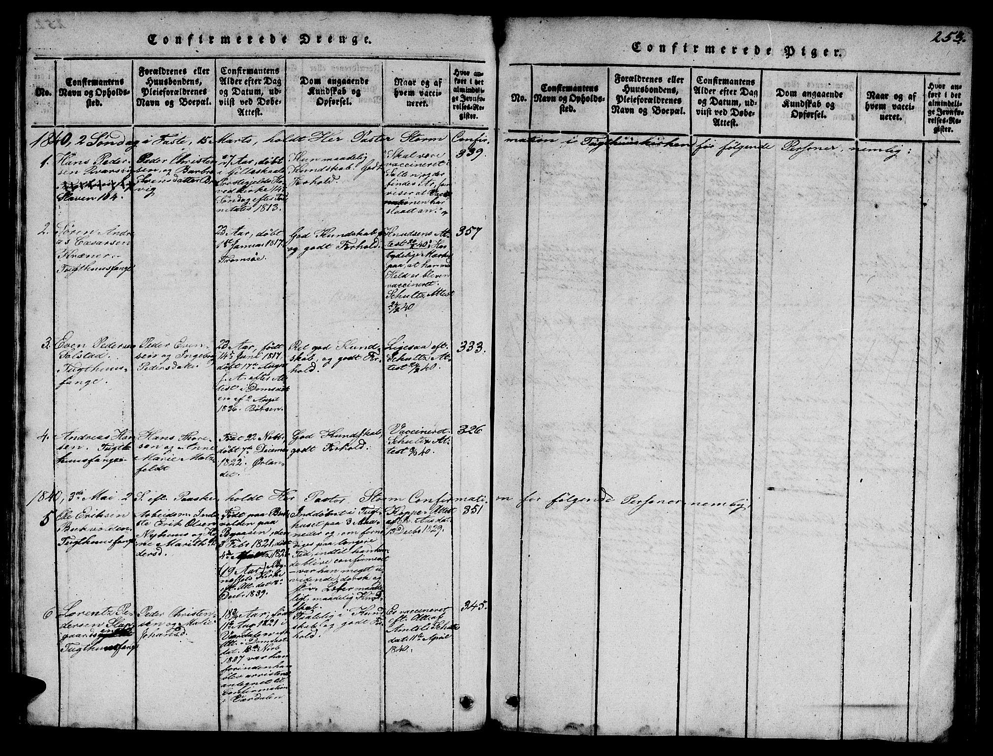 SAT, Ministerialprotokoller, klokkerbøker og fødselsregistre - Sør-Trøndelag, 623/L0478: Klokkerbok nr. 623C01, 1815-1873, s. 253