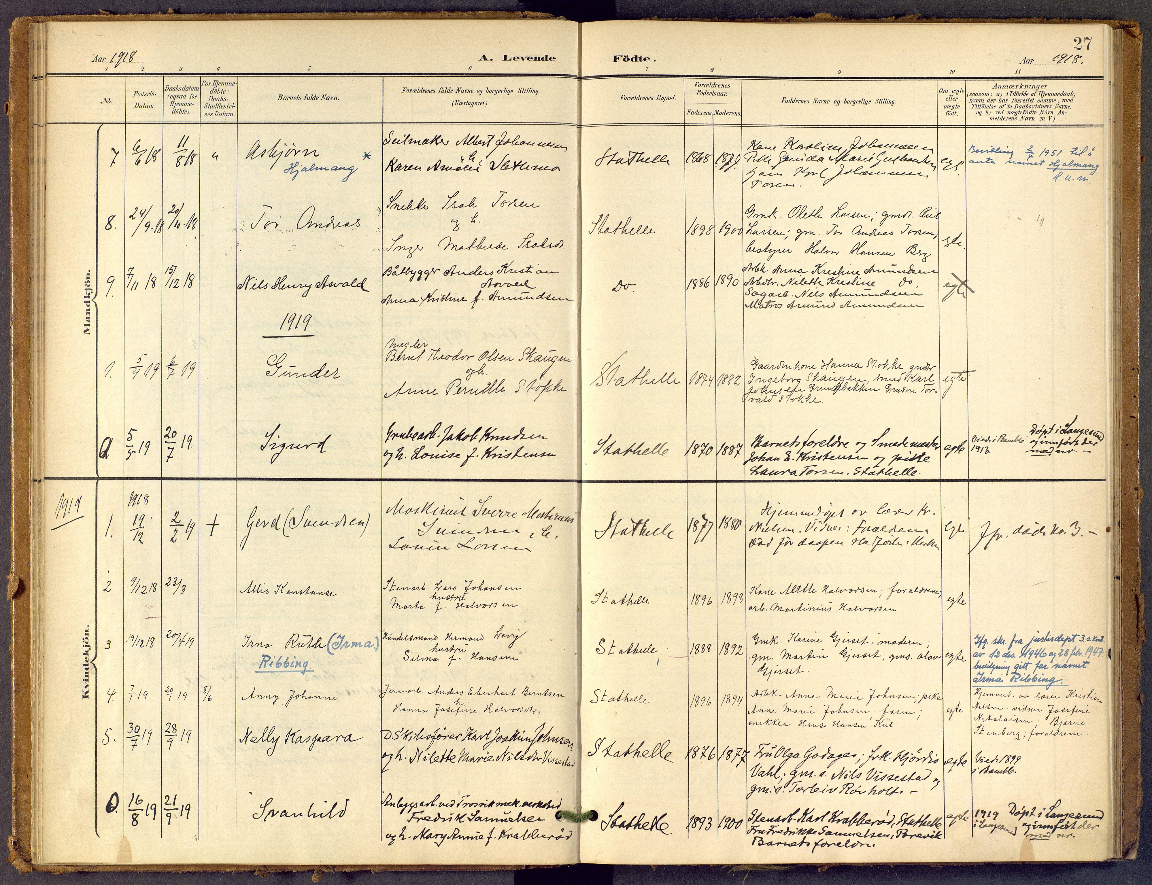 SAKO, Bamble kirkebøker, F/Fb/L0002: Ministerialbok nr. II 2, 1900-1921, s. 27