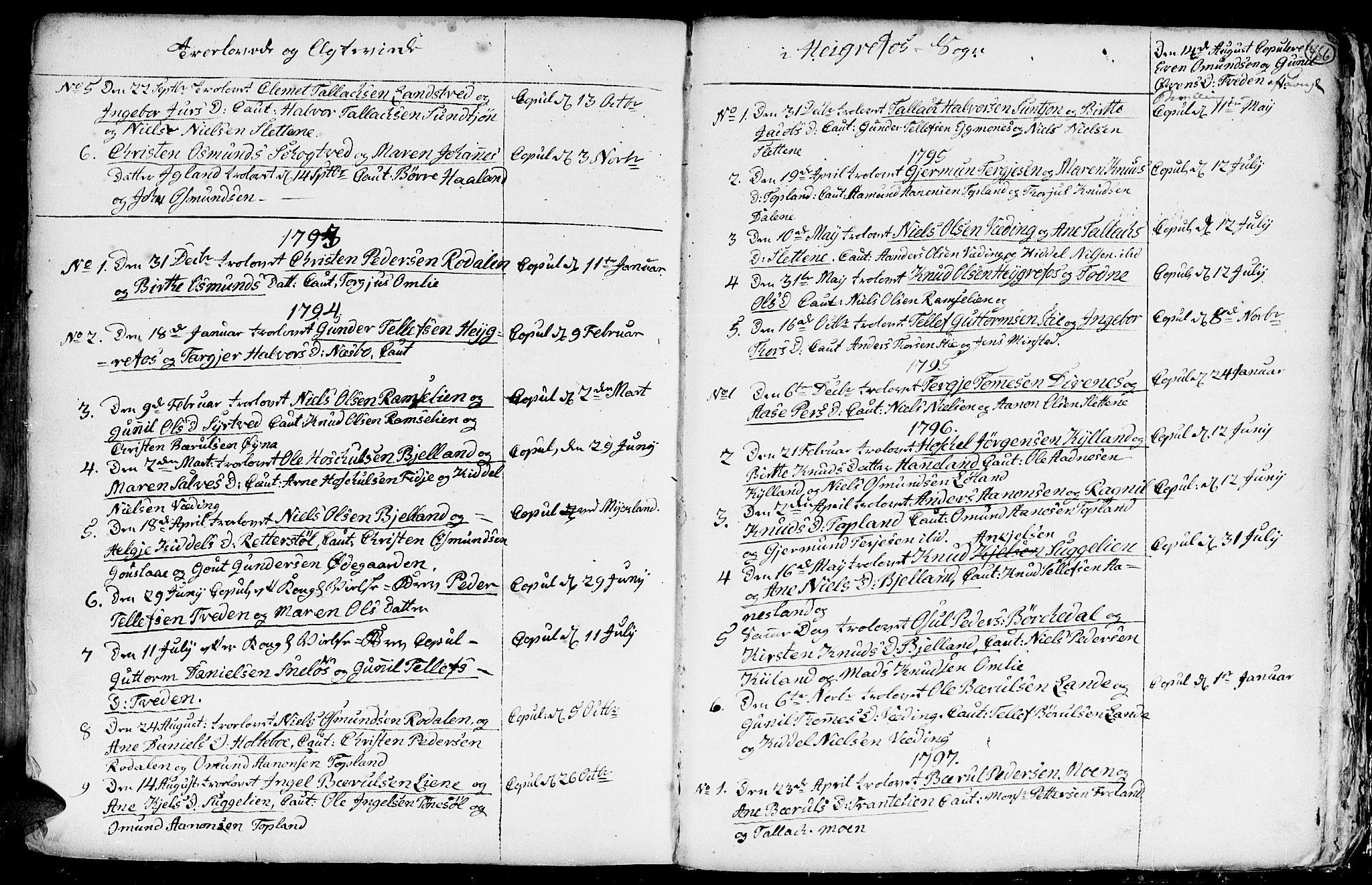 SAK, Hommedal sokneprestkontor, F/Fa/Fab/L0002: Ministerialbok nr. A 2 /3, 1740-1821, s. 466
