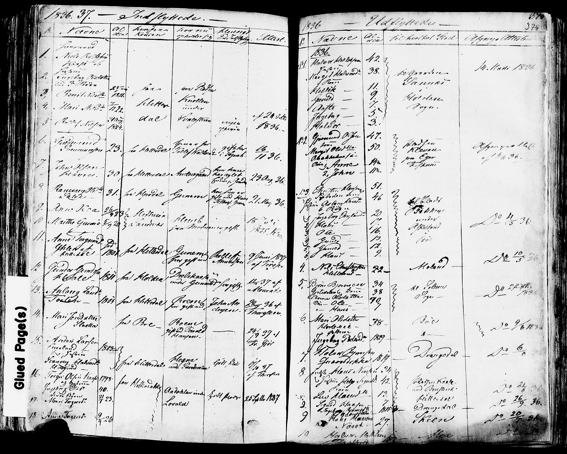 SAKO, Sauherad kirkebøker, F/Fa/L0006: Ministerialbok nr. I 6, 1827-1850, s. 376