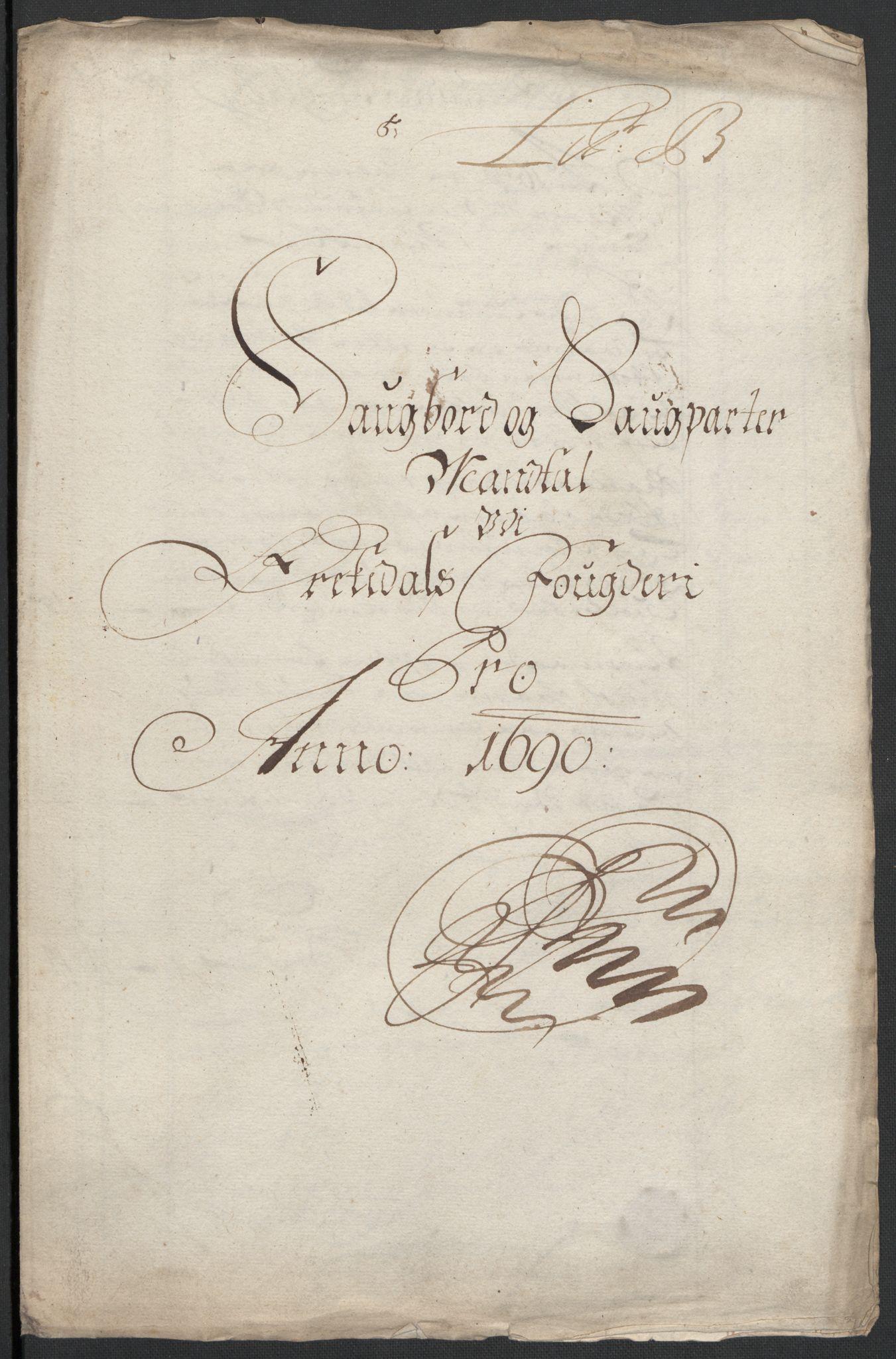RA, Rentekammeret inntil 1814, Reviderte regnskaper, Fogderegnskap, R58/L3936: Fogderegnskap Orkdal, 1689-1690, s. 326