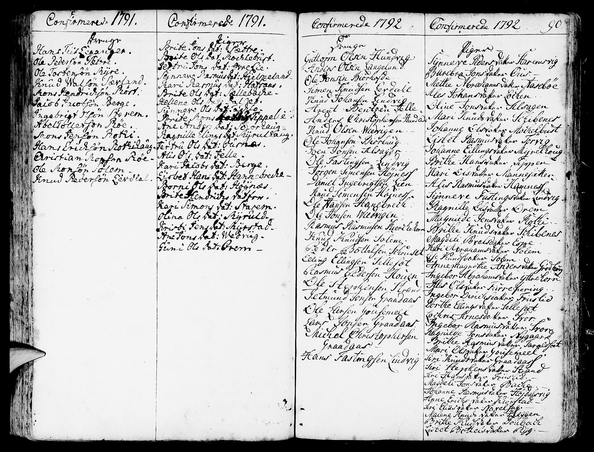 SAB, Eid Sokneprestembete, H/Haa: Ministerialbok nr. A 3, 1770-1805, s. 90